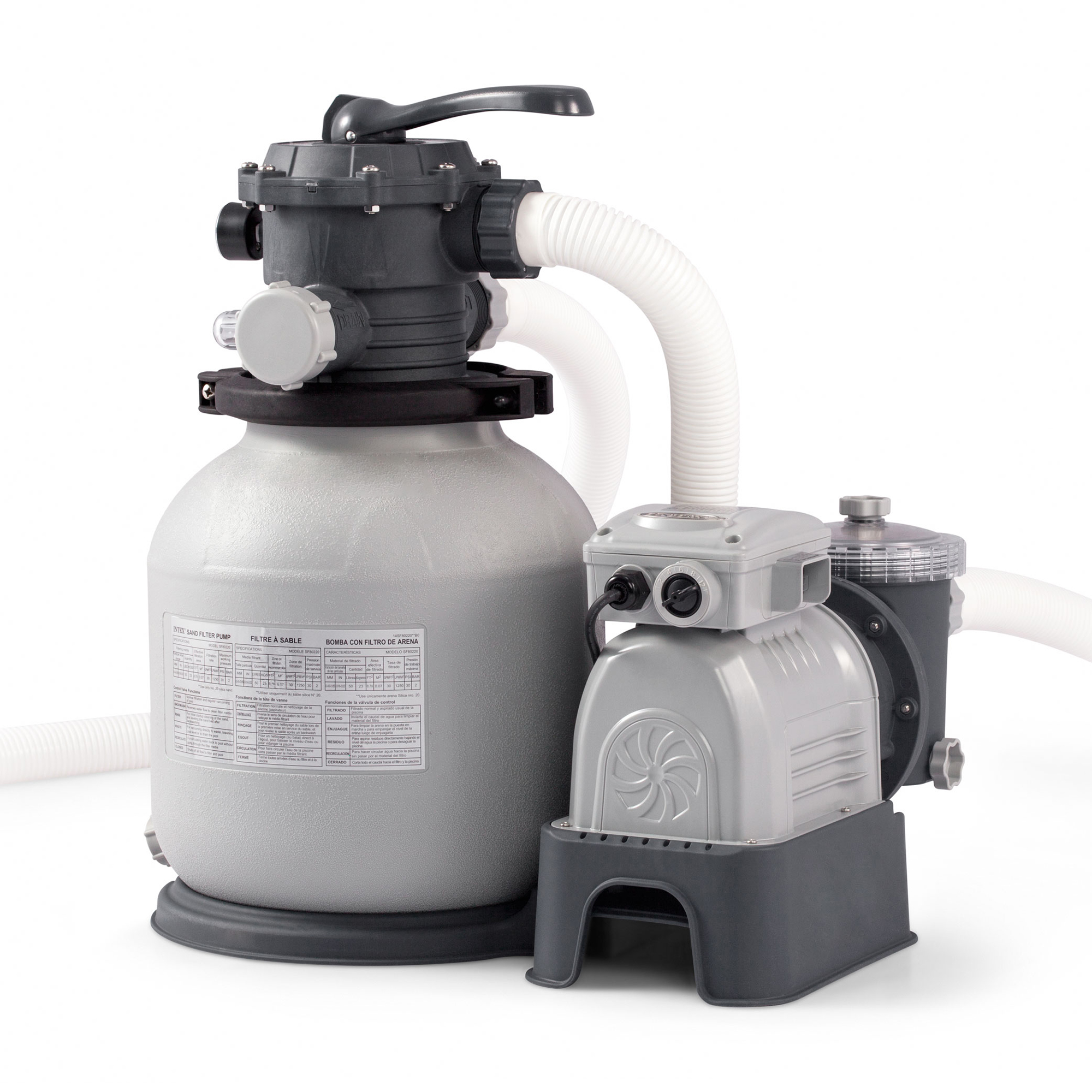 Details about Intex 2100 GPH Krystal Clear Sand Filter Above Ground  Swimming Pool Pump System
