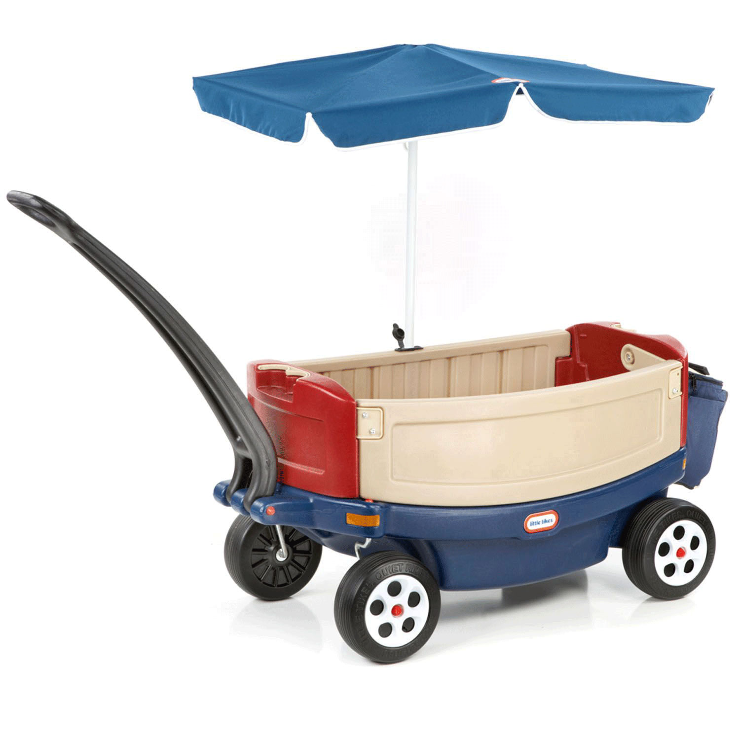 Little Tikes Kids Deluxe Ride and Relax Toy Pull Wagon with Umbrella ...