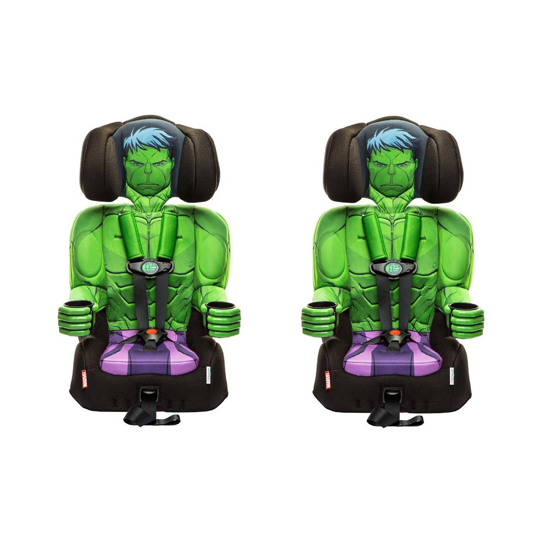 Kids Embrace Marvel Avengers Incredible Hulk Combo Booster Car Seat 2 Pack