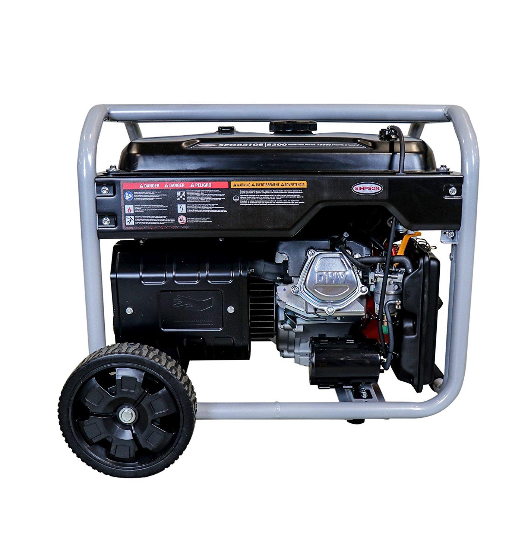 Details about Simpson 8,300 Watt 439cc Start Portable Heavy Duty Generator  Series (Open Box)