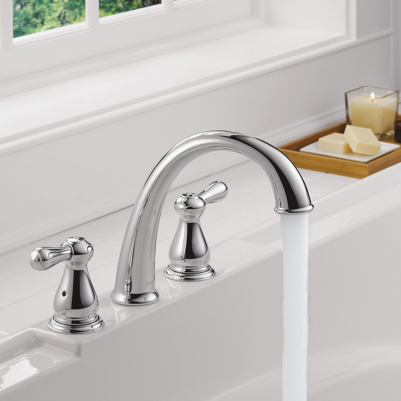 delta faucets two handle bathroom tub faucet trim 85959