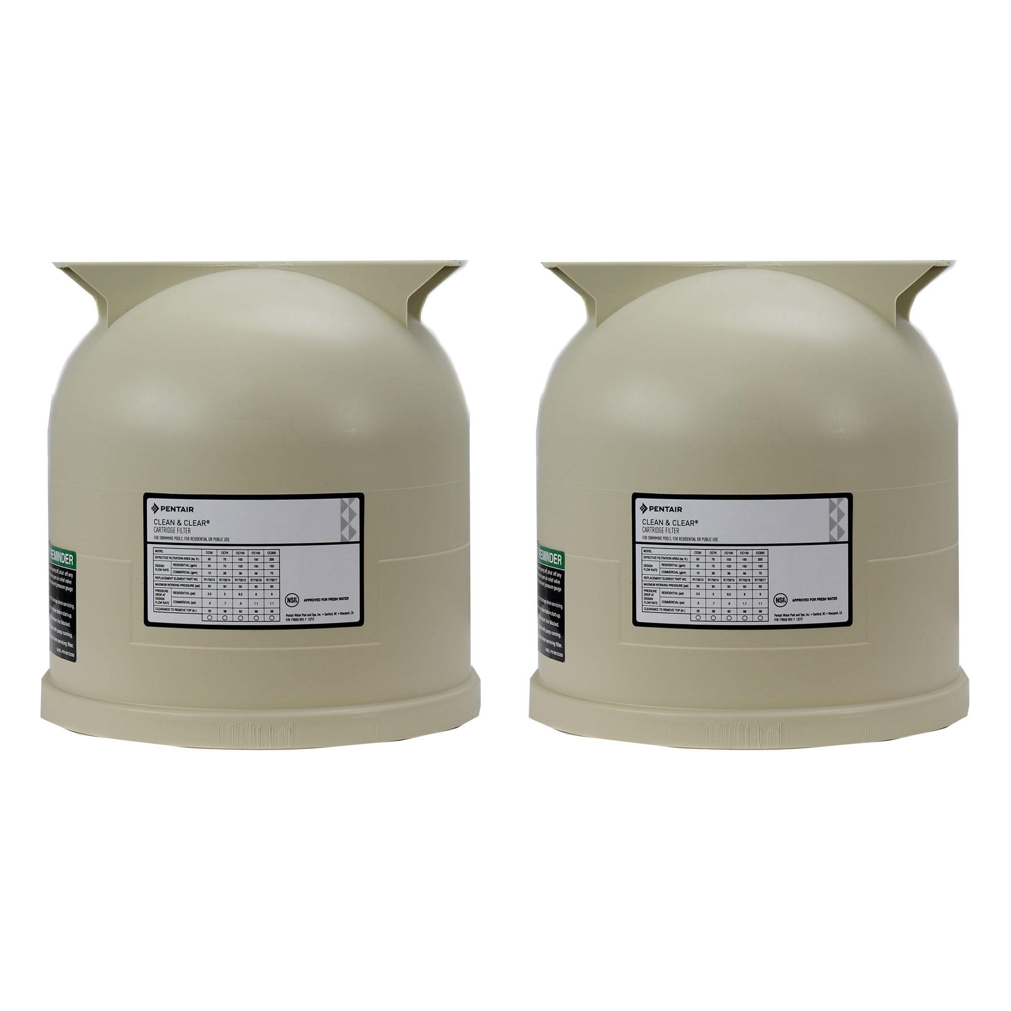 Details about Pentair 178561 Clean Clear Predator Swimming Pool Cartridge  Filter Lid (2 Pack)