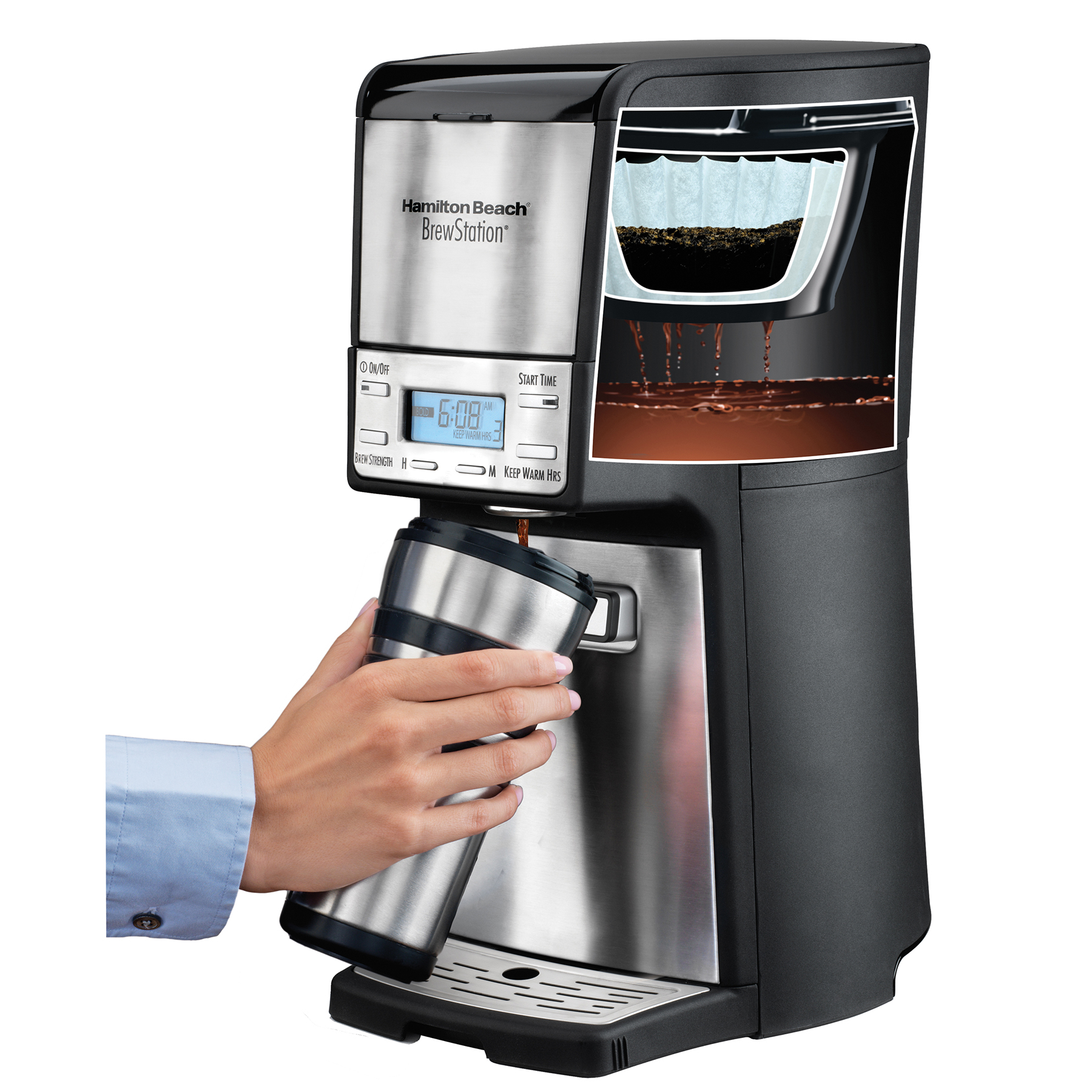 One Cup Coffee Maker Programmable : Hamilton Beach 48465 Brewstation Summit Ultra 12-Cup Programmable Coffeemaker