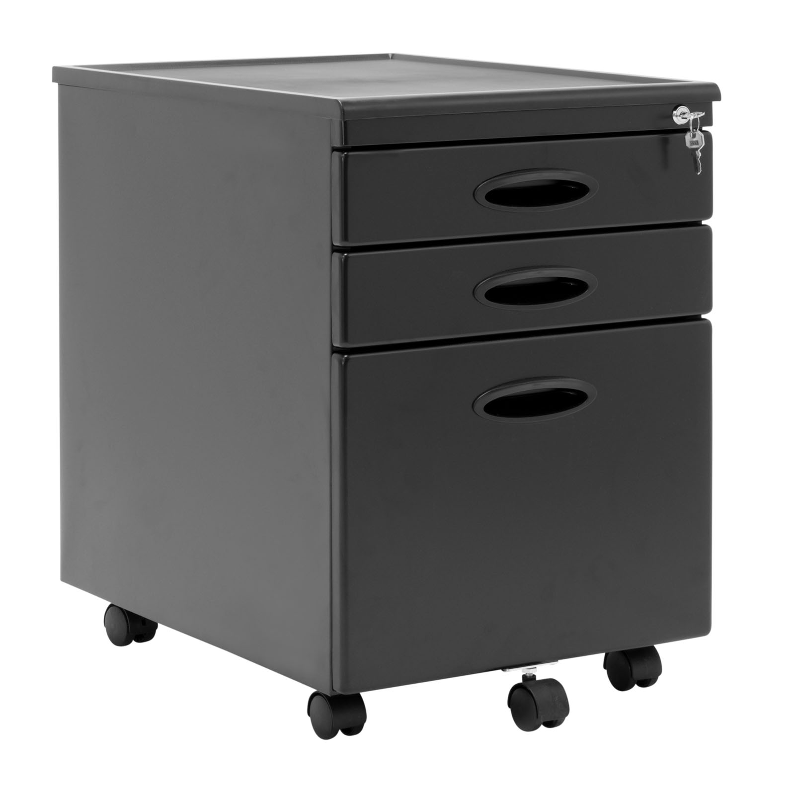 Calico designs home office furniture storage 3 drawer for Mobile furniture