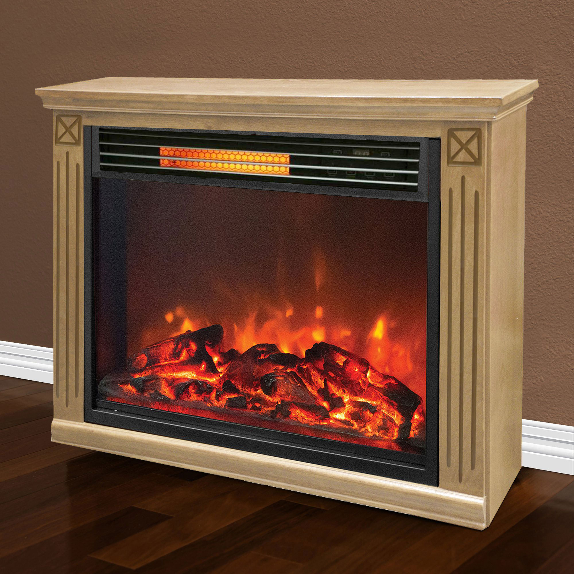Lifesmart big room electric infrared quartz fireplace for Electric fireplace motor noise