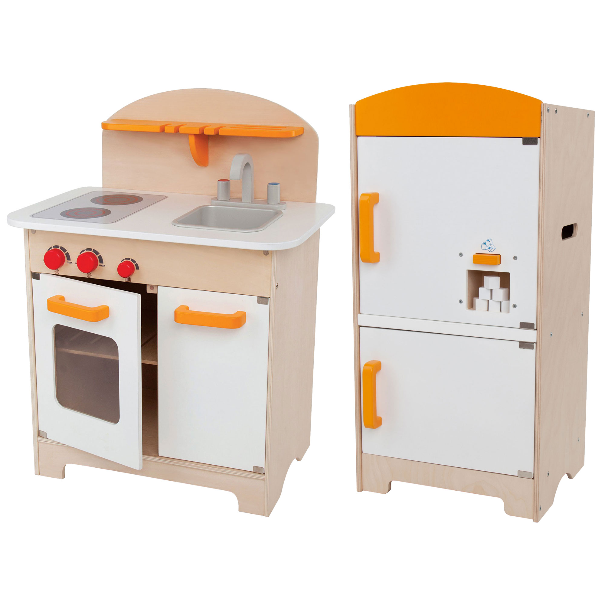 Hape Gourmet Kitchen Toddler & Kids Wood Play Pretend Kitchen and ...