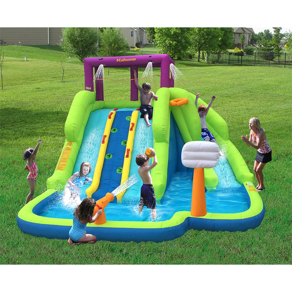 Kahuna 90360 Triple Blast Outdoor Inflatable Splash Pool ...