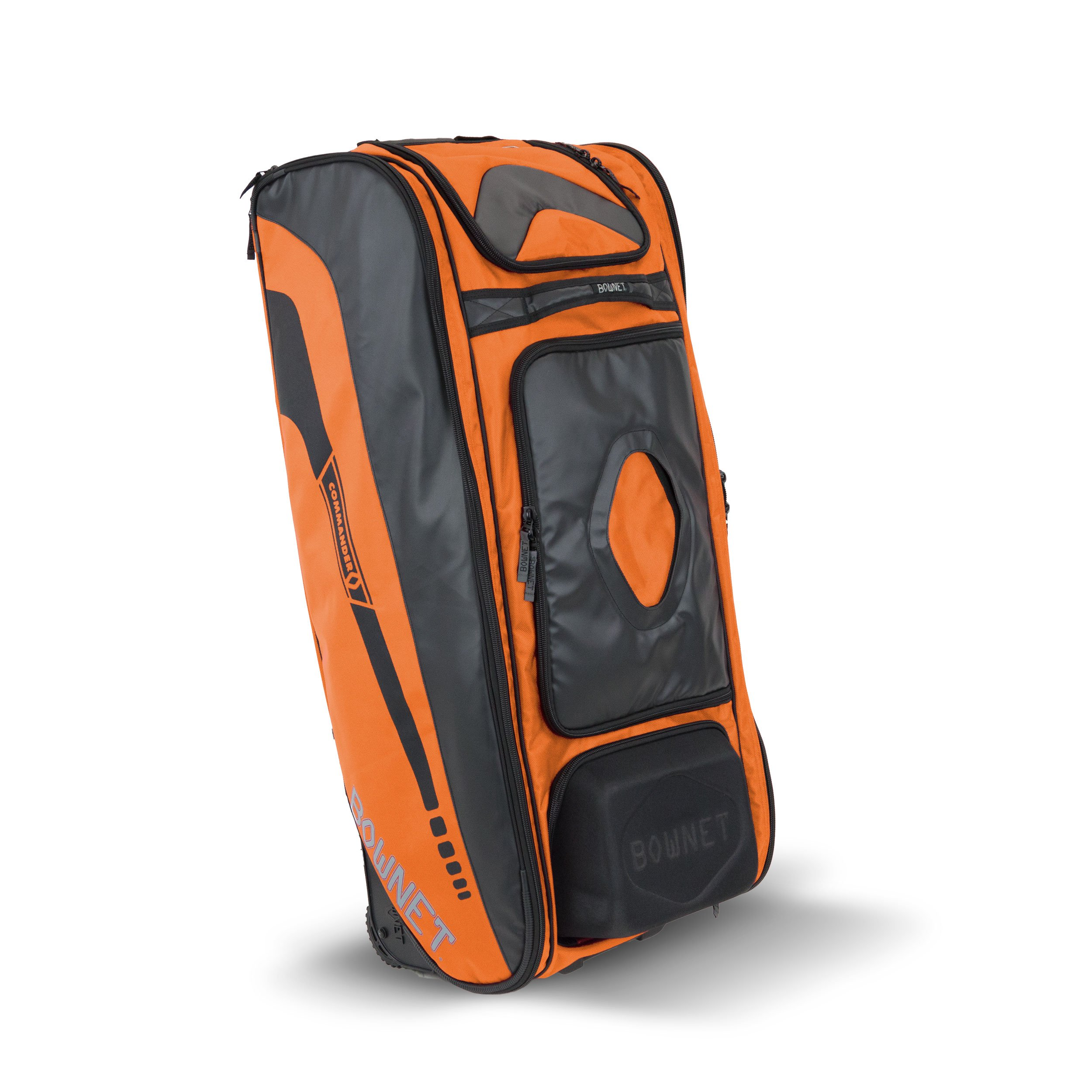 Details About Bownet The Commander Baseball Softball Rolling Catcher S Equipment Bag Orange