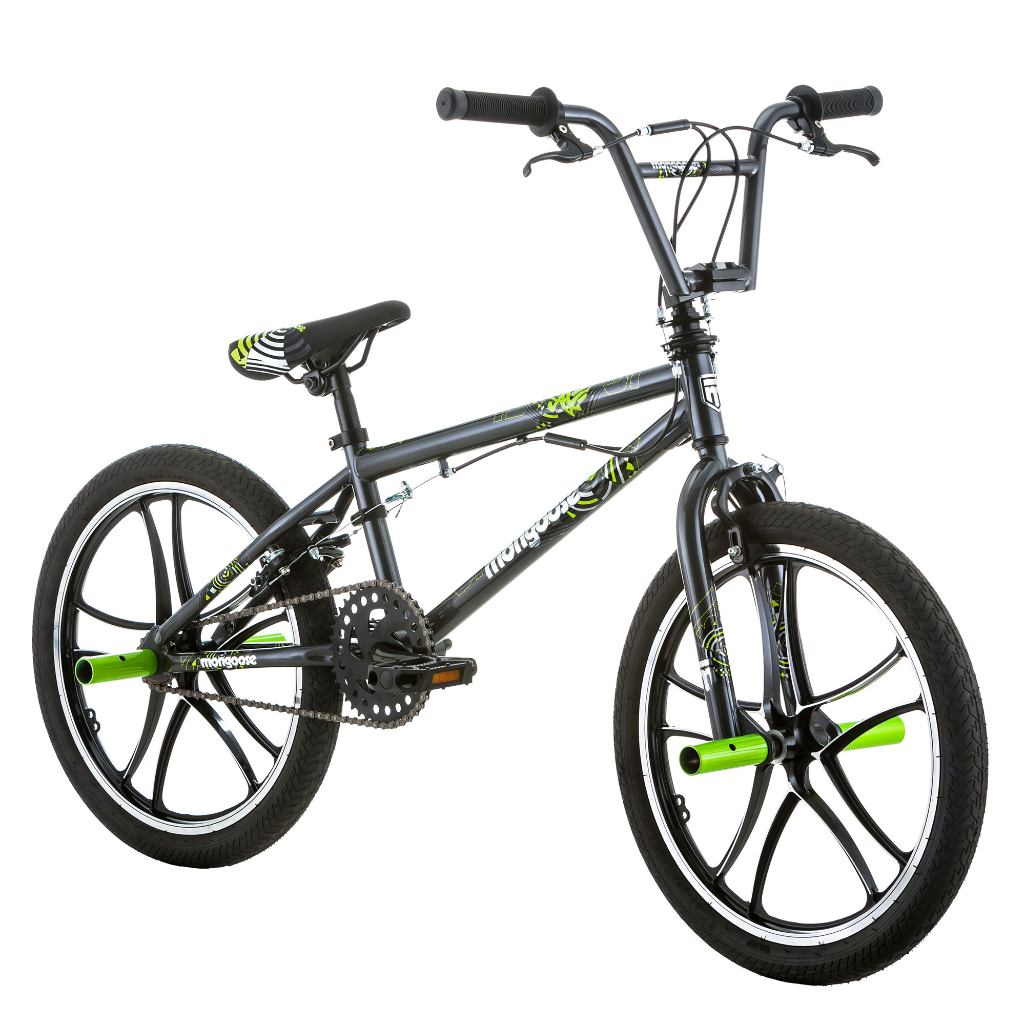 "Mongoose Kids 20"" Tires Axe Steel Frame Freestyle Youth ...