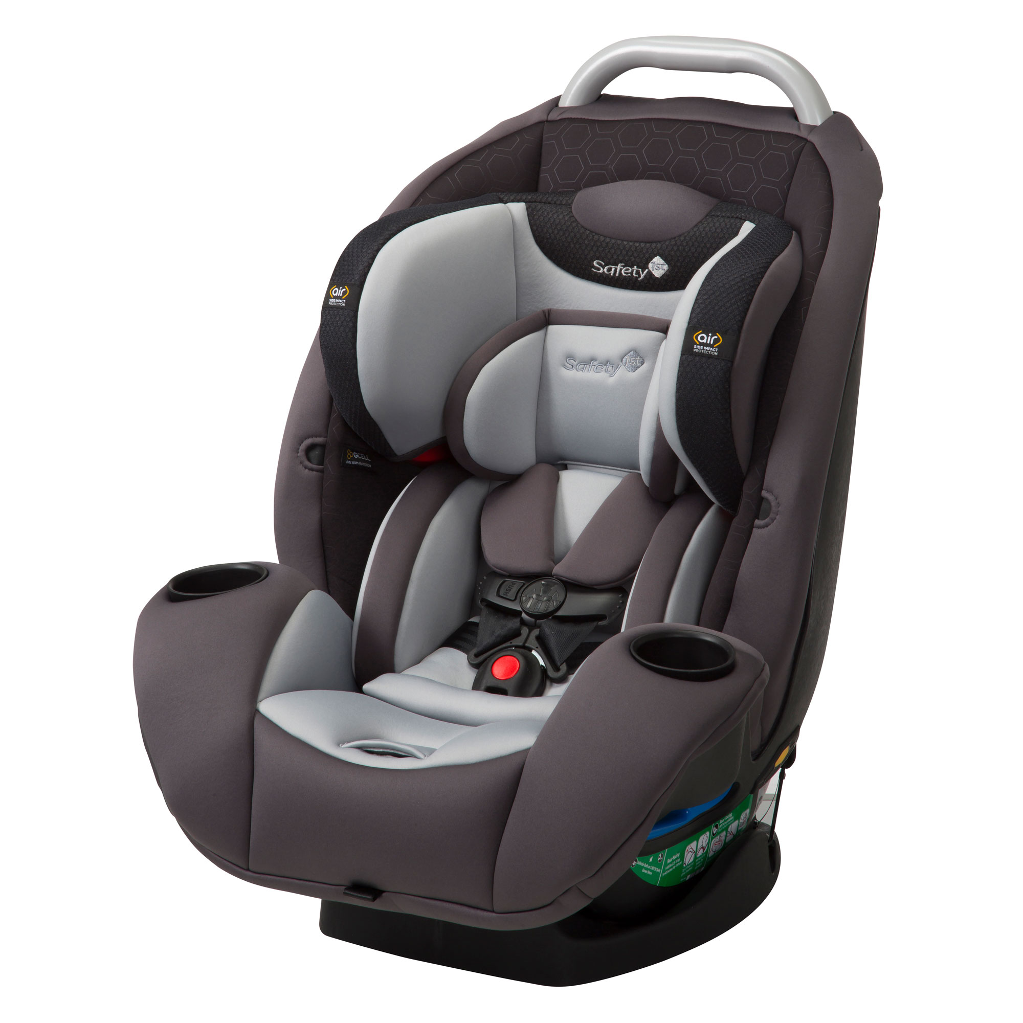 Safety 1st UltraMax Air 360 4 In 1 Convertible 120 Lb Car Seat Raven HX Gray