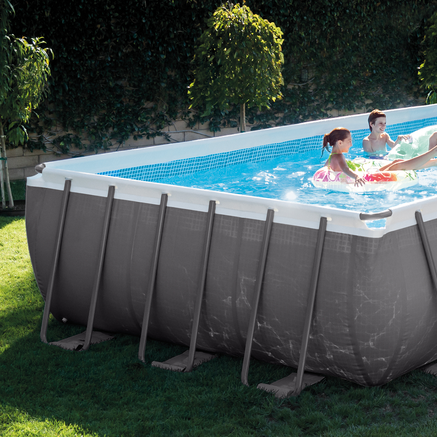 Intex Ultra Frame Rectangular Swimming Pool Set with Sand Filter ...