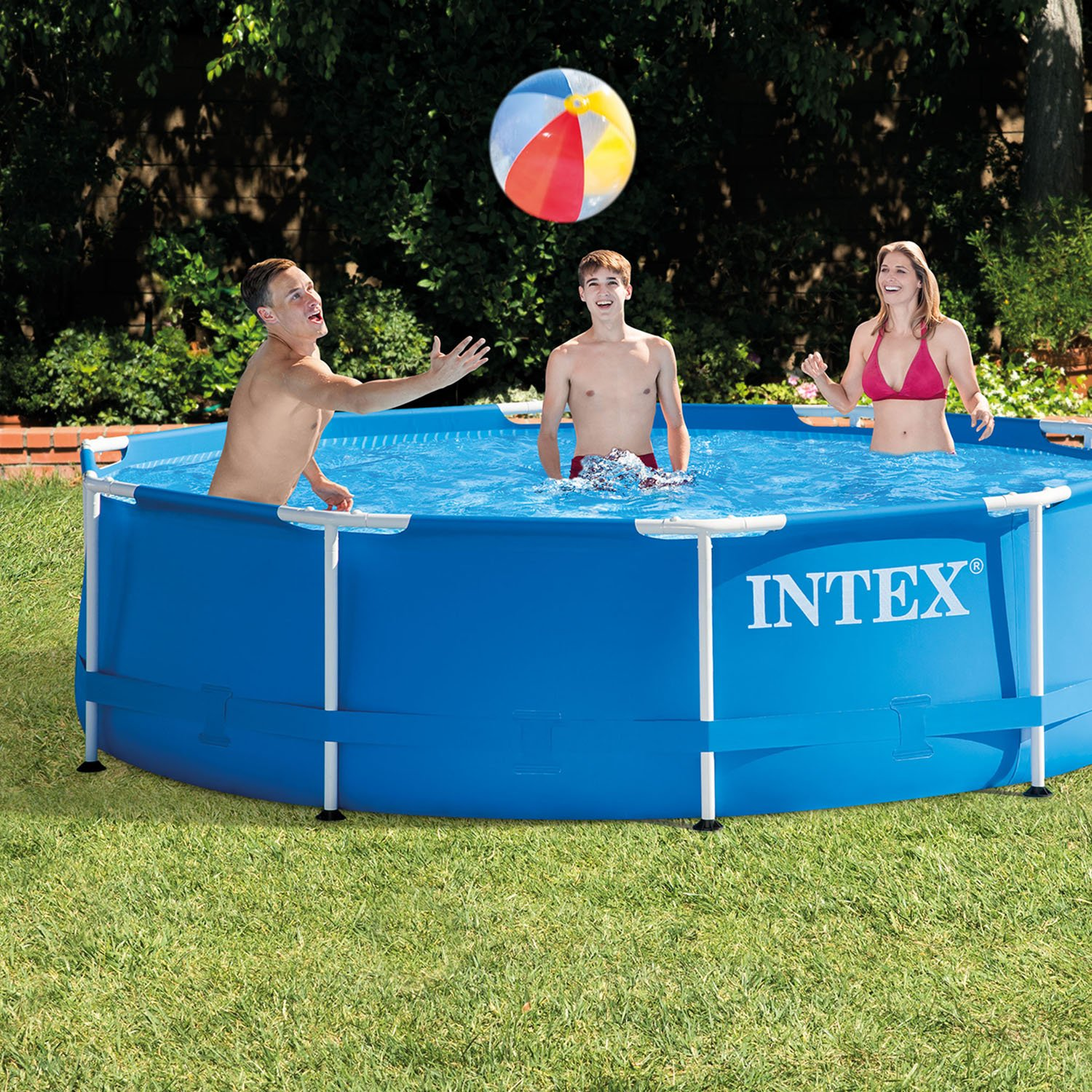 Intex 10 39 x 30 metal frame swimming pool set with filter pump 28201eh ebay Intex inflatable swimming pool