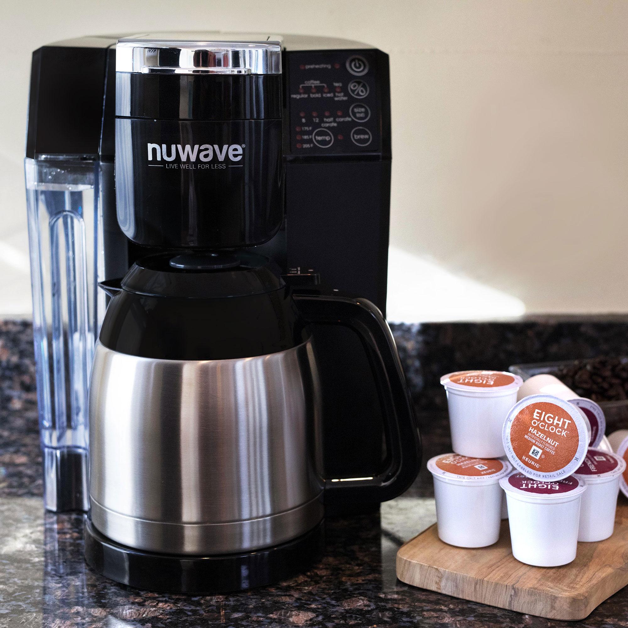 Nuwave Bruhub Single Servefull Pot Smart Coffeemaker Machine System