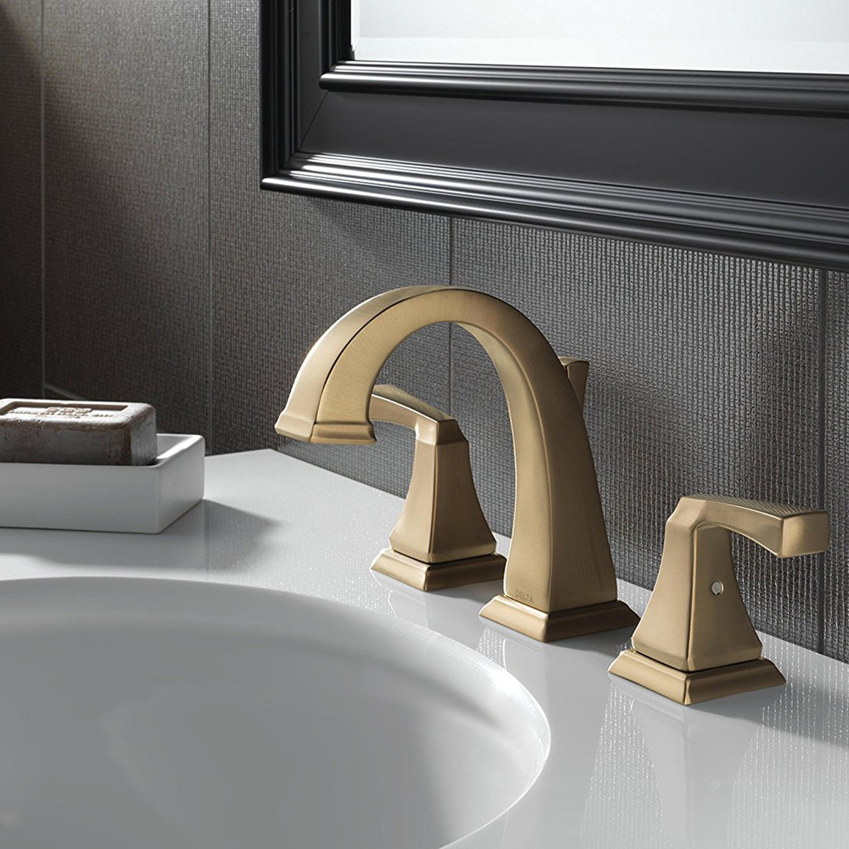 Delta Dryden Handle Widespread Bathroom Faucet Champagne Bronze - Champagne bronze bathroom faucet for bathroom decor ideas