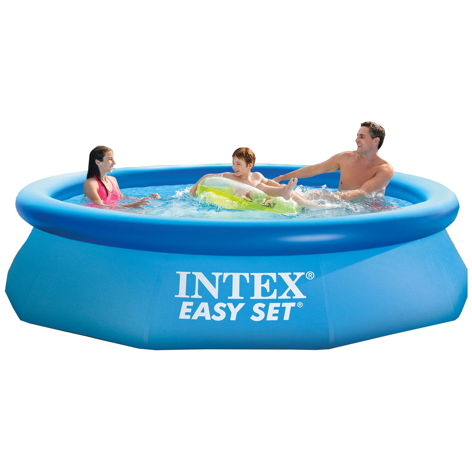 Intex 10 39 x 30 easy set above ground inflatable family swimming pool w o pump ebay Inflatable quick set swimming pool