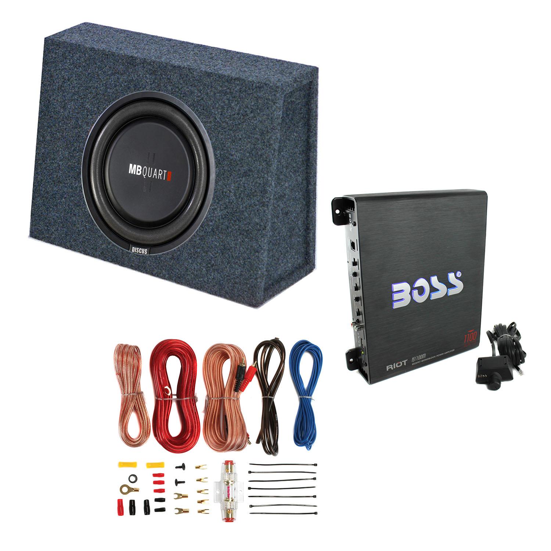 mb quart 400 watt 10 inch subwoofer slim sub box
