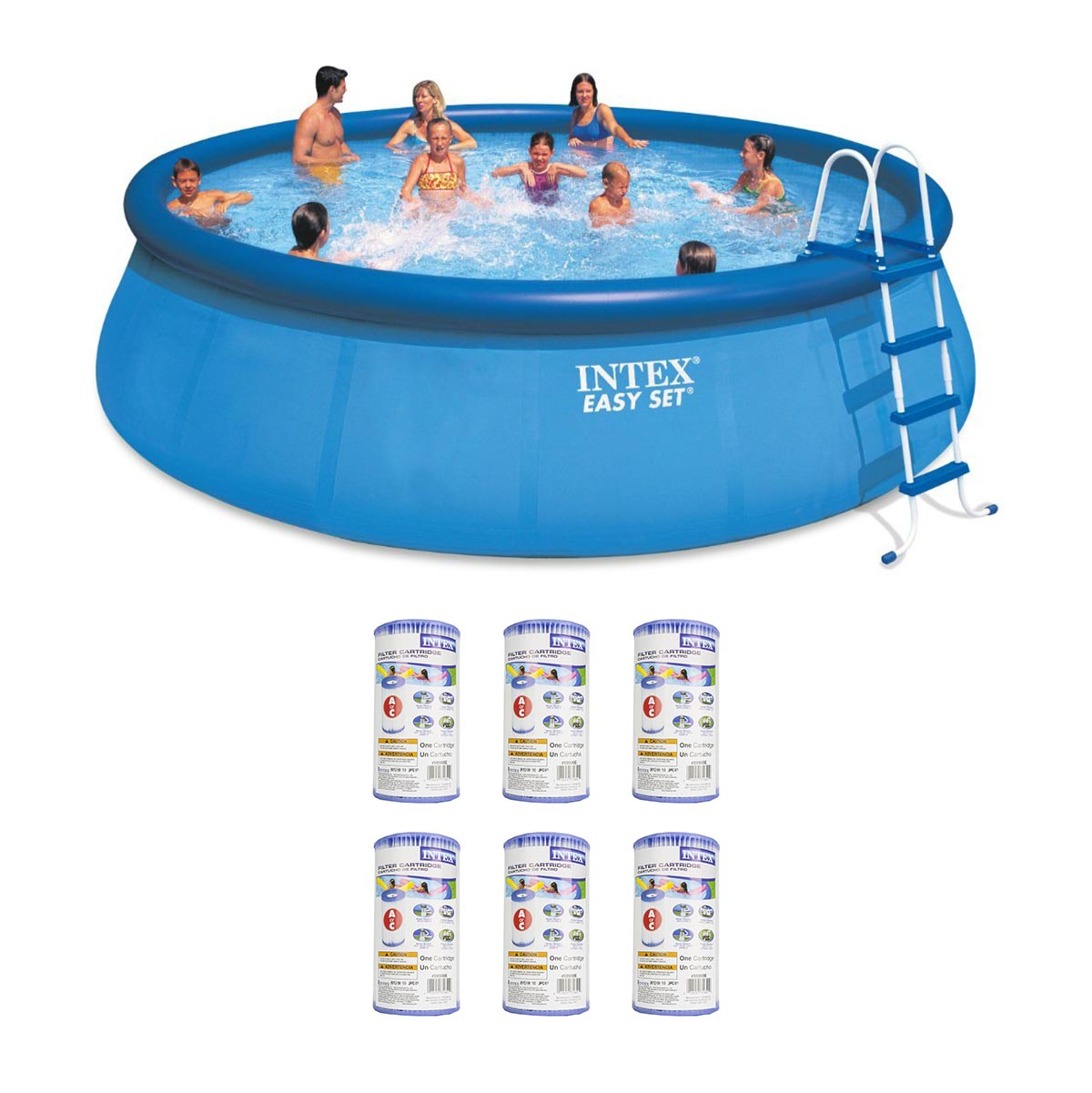 Intex X Inflatable Easy Set Above Ground Pool Set Filter