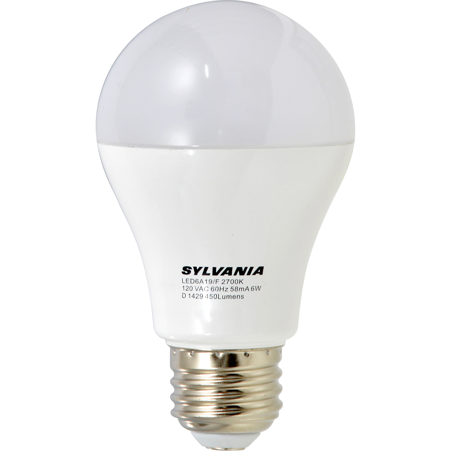 Sylvania A19 40w E26 Non Dimmable Soft White Led Light Bulbs 12 Bulbs 73642: sylvania bulbs