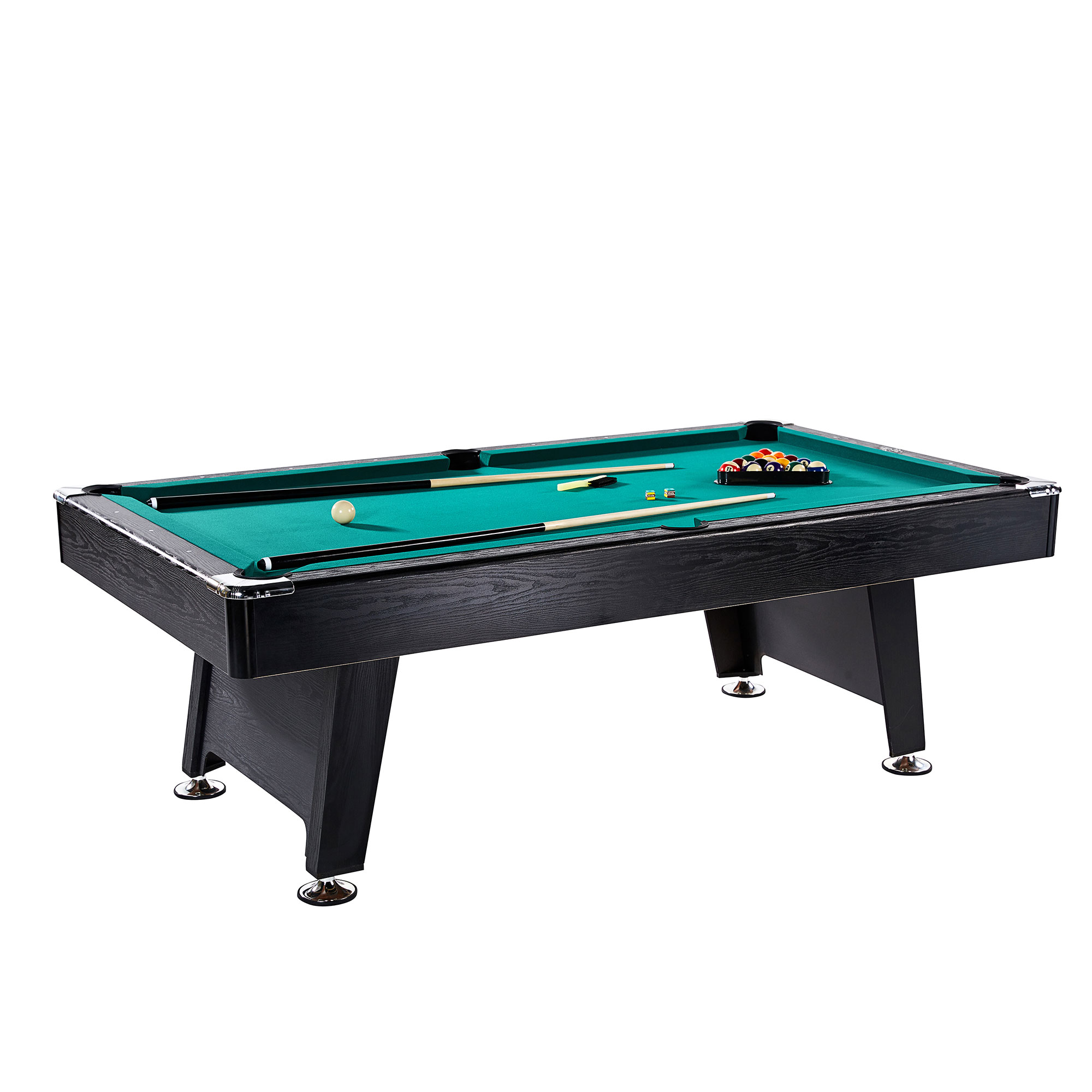 Details About Lancaster 90 Inch Room Billiards Green Felt Pool Table With And Cue