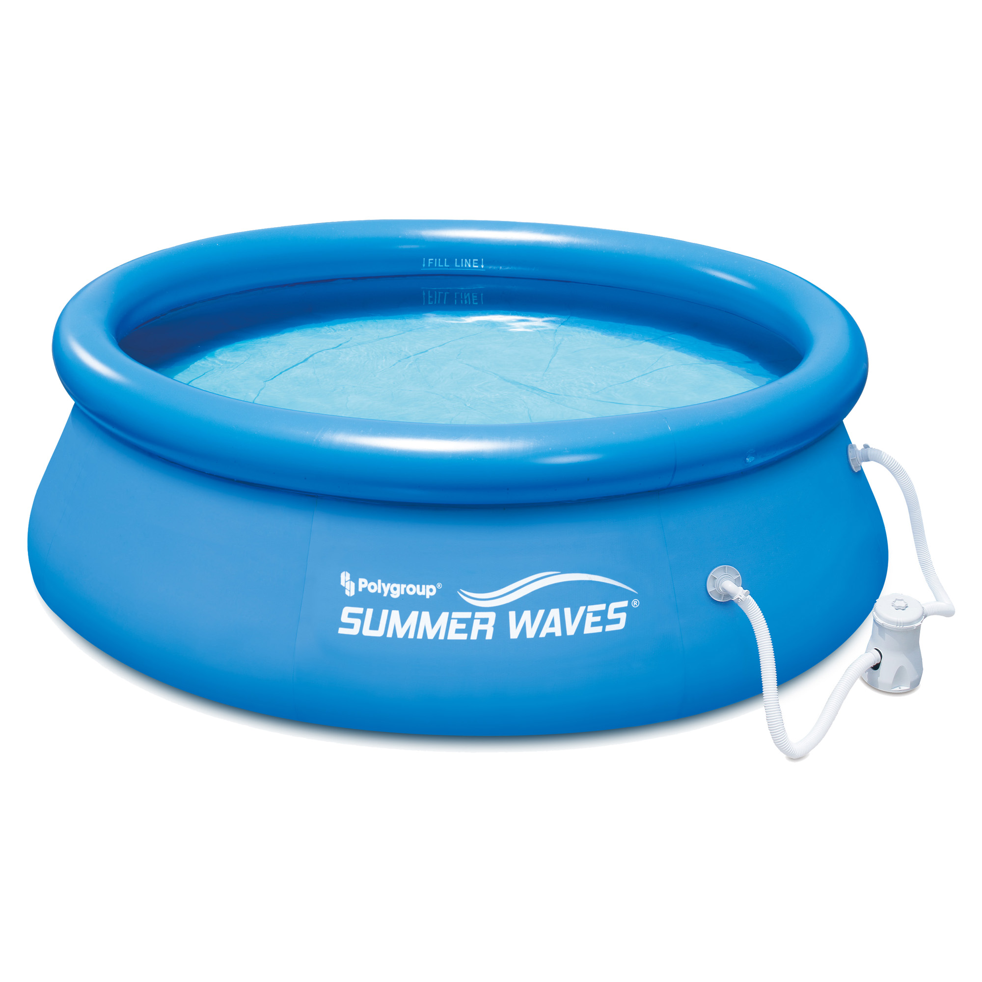 Above Ground Inflatable Pools summer waves 8' ft. quick set inflatable above ground pool with