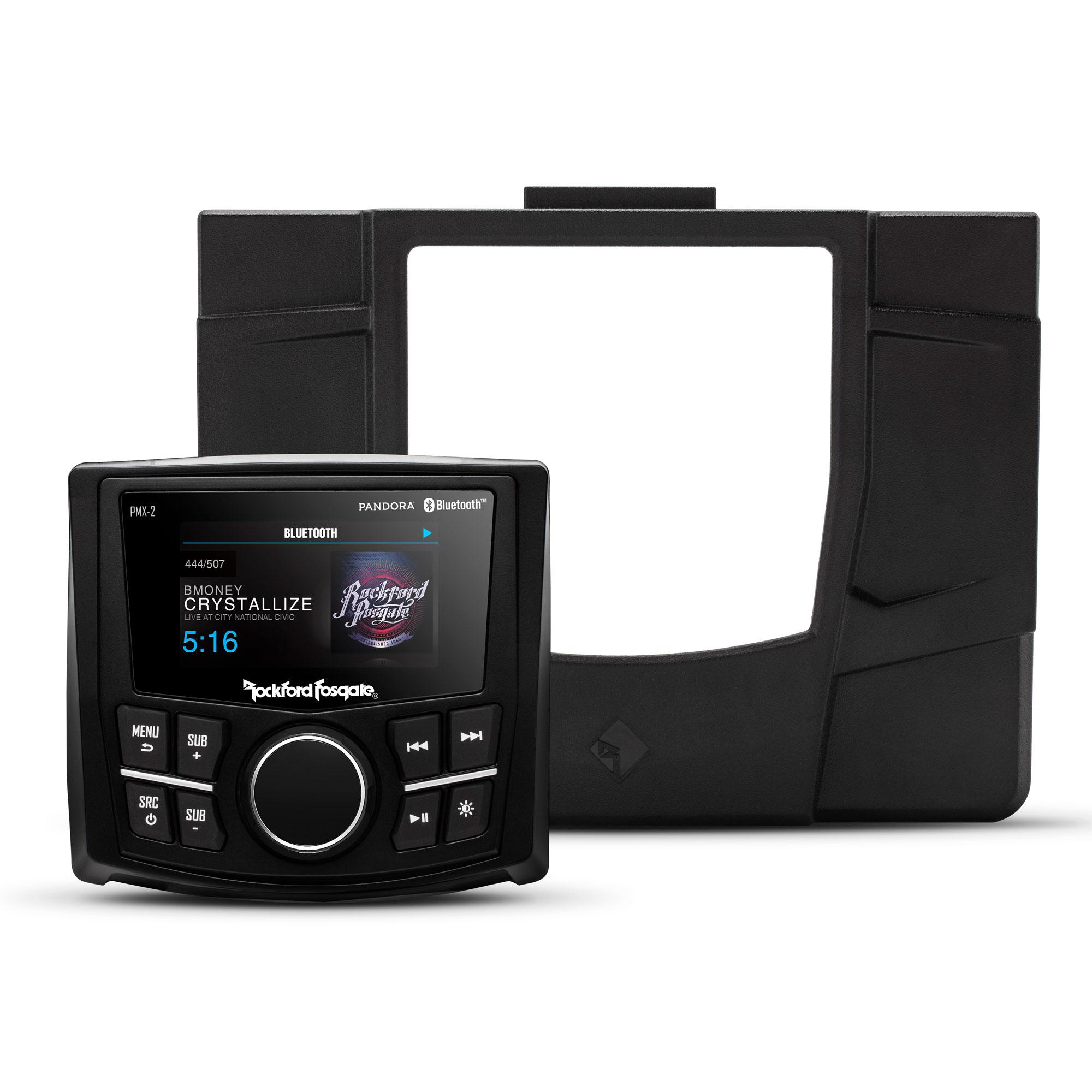 Details about Rockford Fosgate Stereo Kit for Select Polaris RZR Models,  PMX-2 & Dash Kit