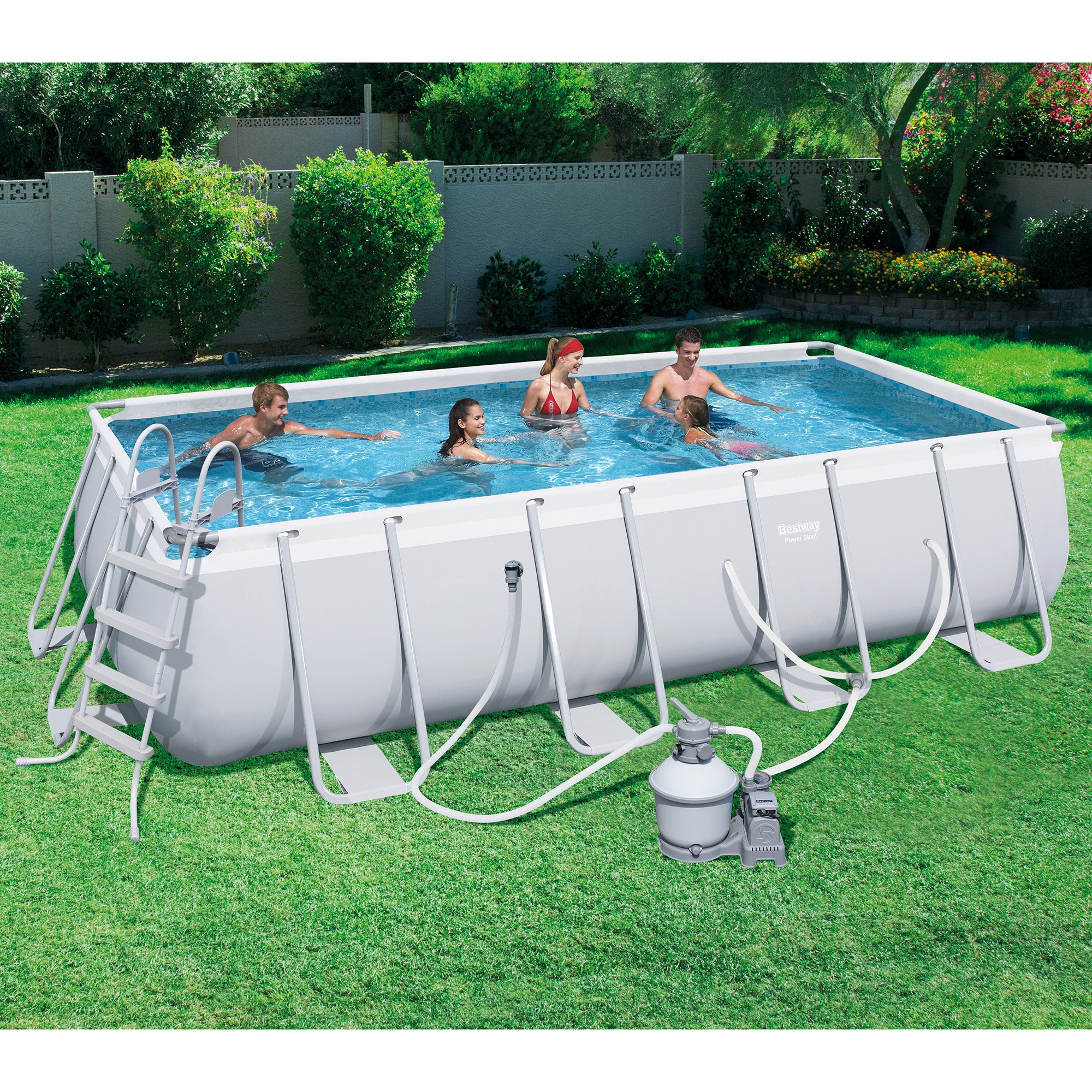 Bestway 18 39 x9 39 x48 rectangular frame above ground pool set for Bestway pool obi