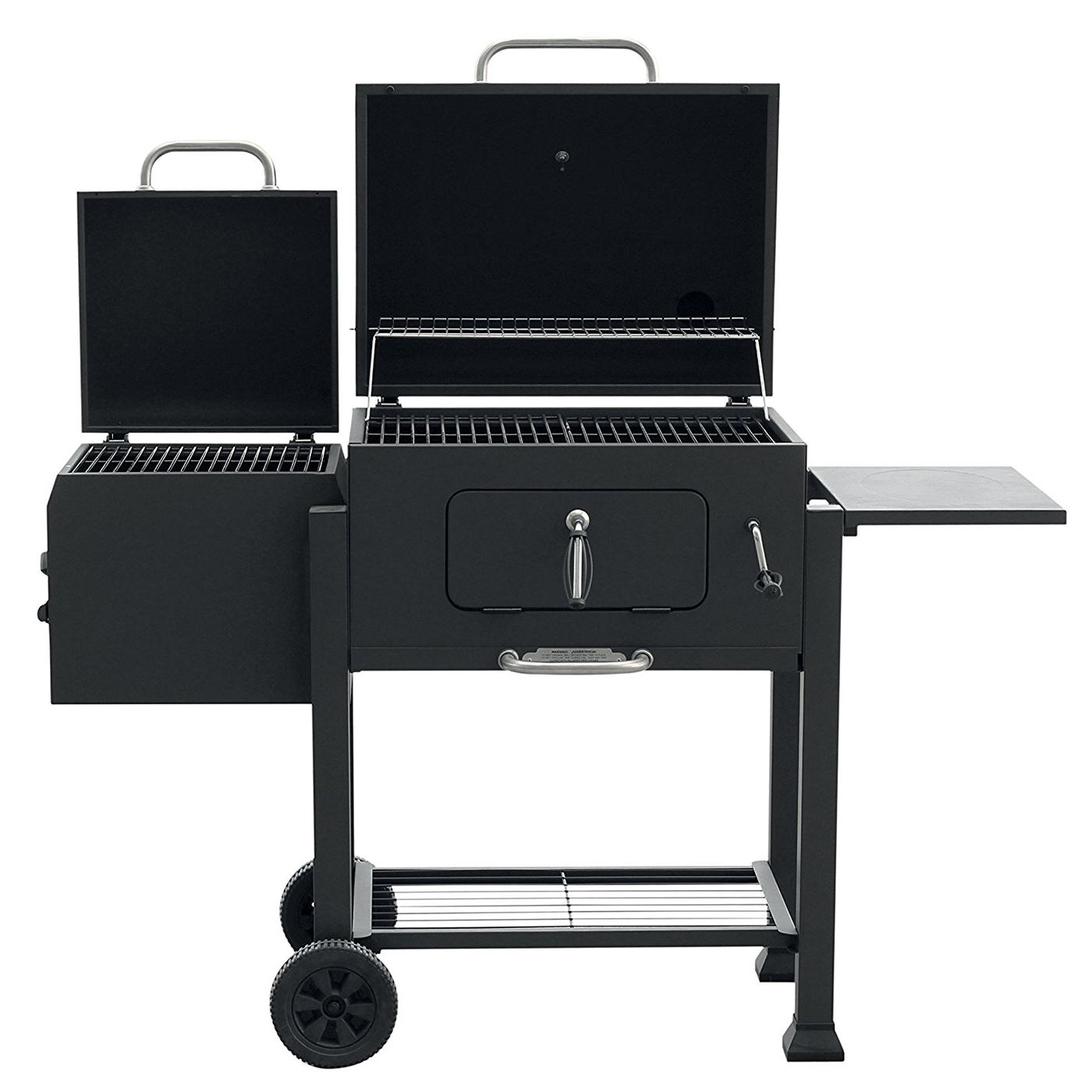 landmann heavy duty steel vista charcoal grill with offset smoker