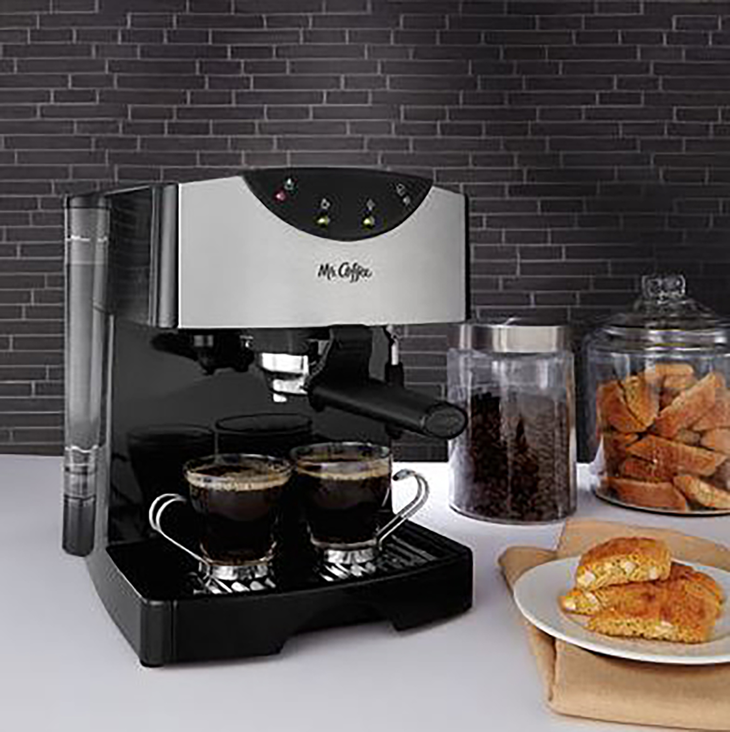 mr coffee cafe automatic dual shot pump espresso and cappuccino steam maker ebay. Black Bedroom Furniture Sets. Home Design Ideas