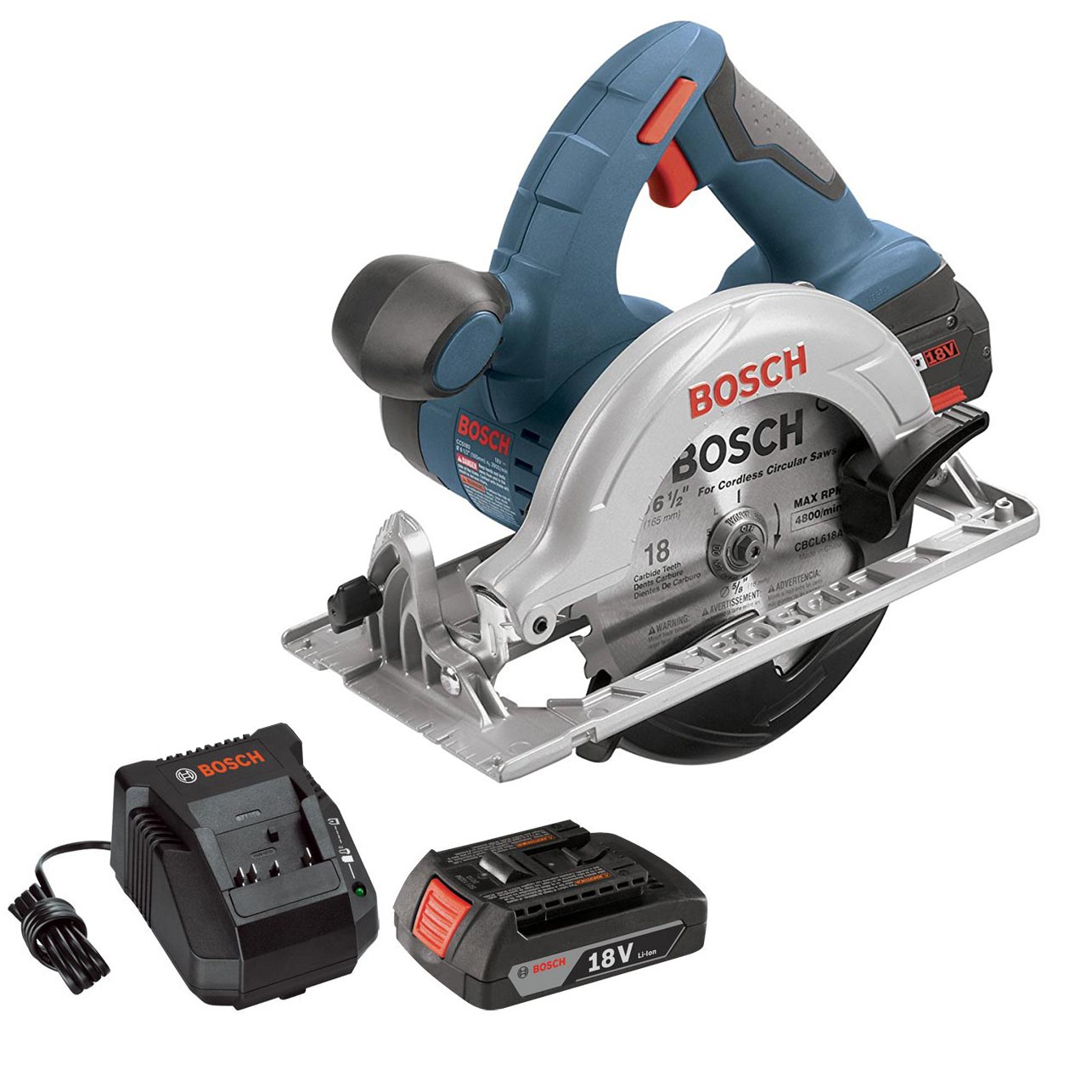 bosch 18v 6 5 cordless circular saw battery charger certified refurbished ebay. Black Bedroom Furniture Sets. Home Design Ideas