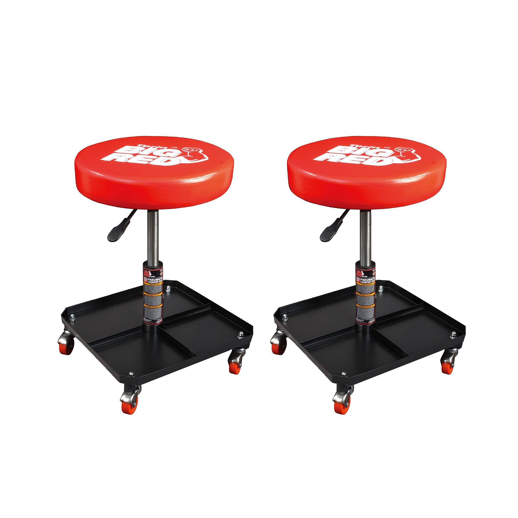 Wondrous Details About Torin Big Red Rolling Pneumatic Adjustable Garage Mechanic Stool Red 2 Pack Ibusinesslaw Wood Chair Design Ideas Ibusinesslaworg