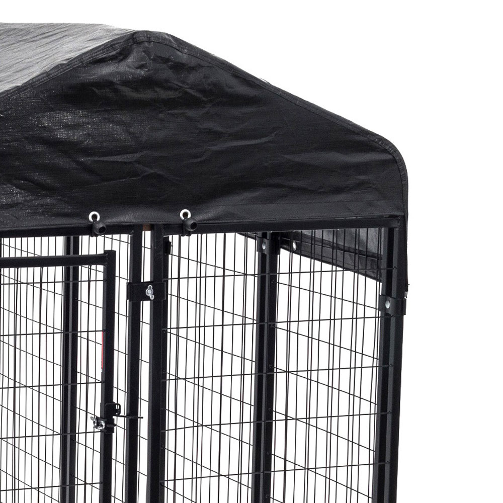 Details about Lucky Dog 6'H x 8'L x 4'W Welded Wire Dog Fence Pet Kennel  with Heavy Duty Cover