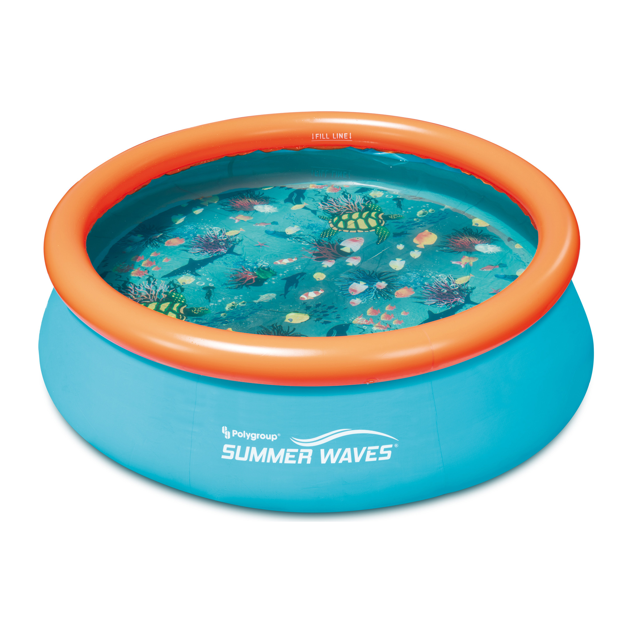 Summer Waves Small Kiddie 8 39 Inflatable Kids Swimming Pool With 3d Floor Pattern Ebay
