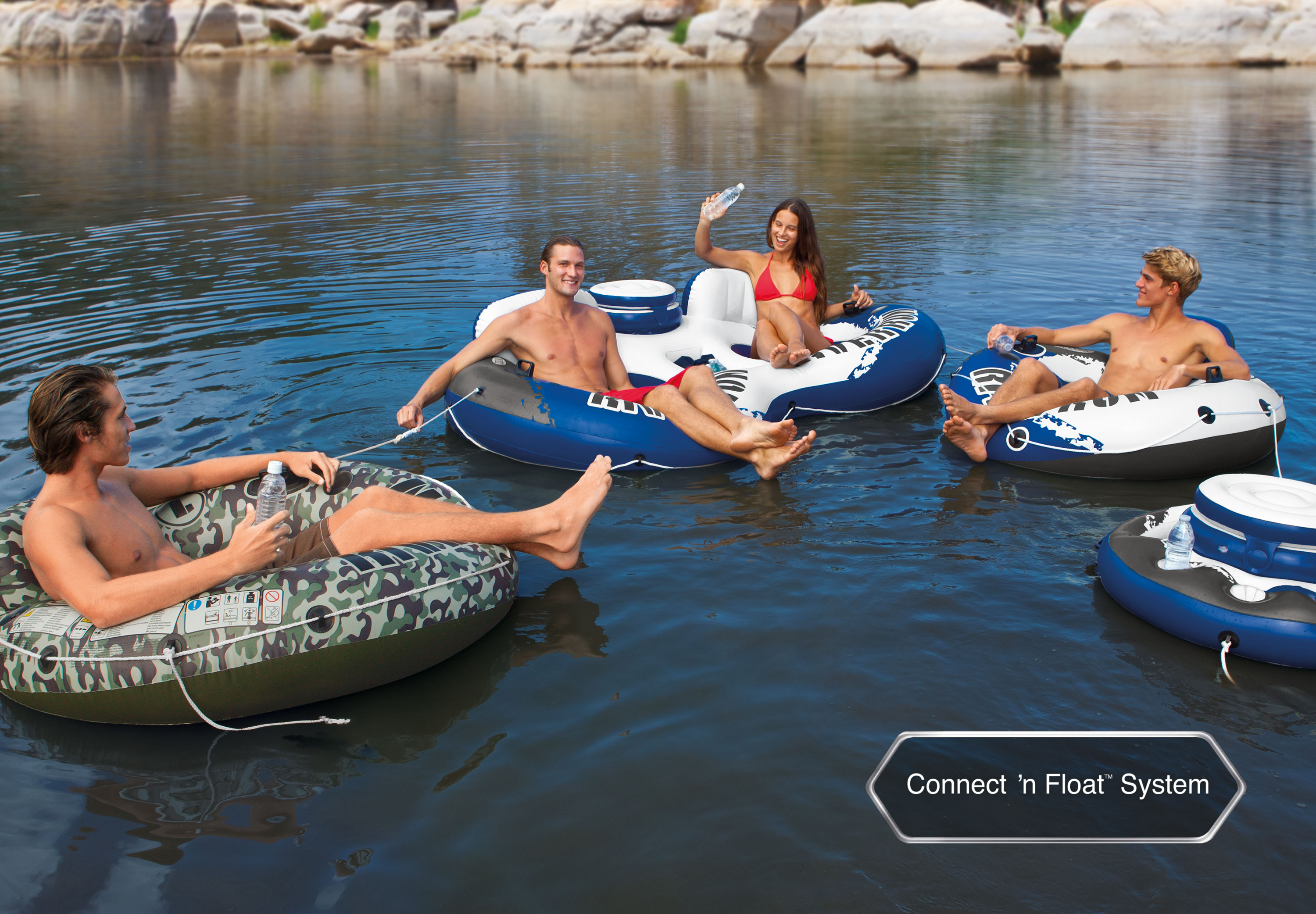 Water Floats And Tubes ~ Intex river run ii inflatable person pool tube float w