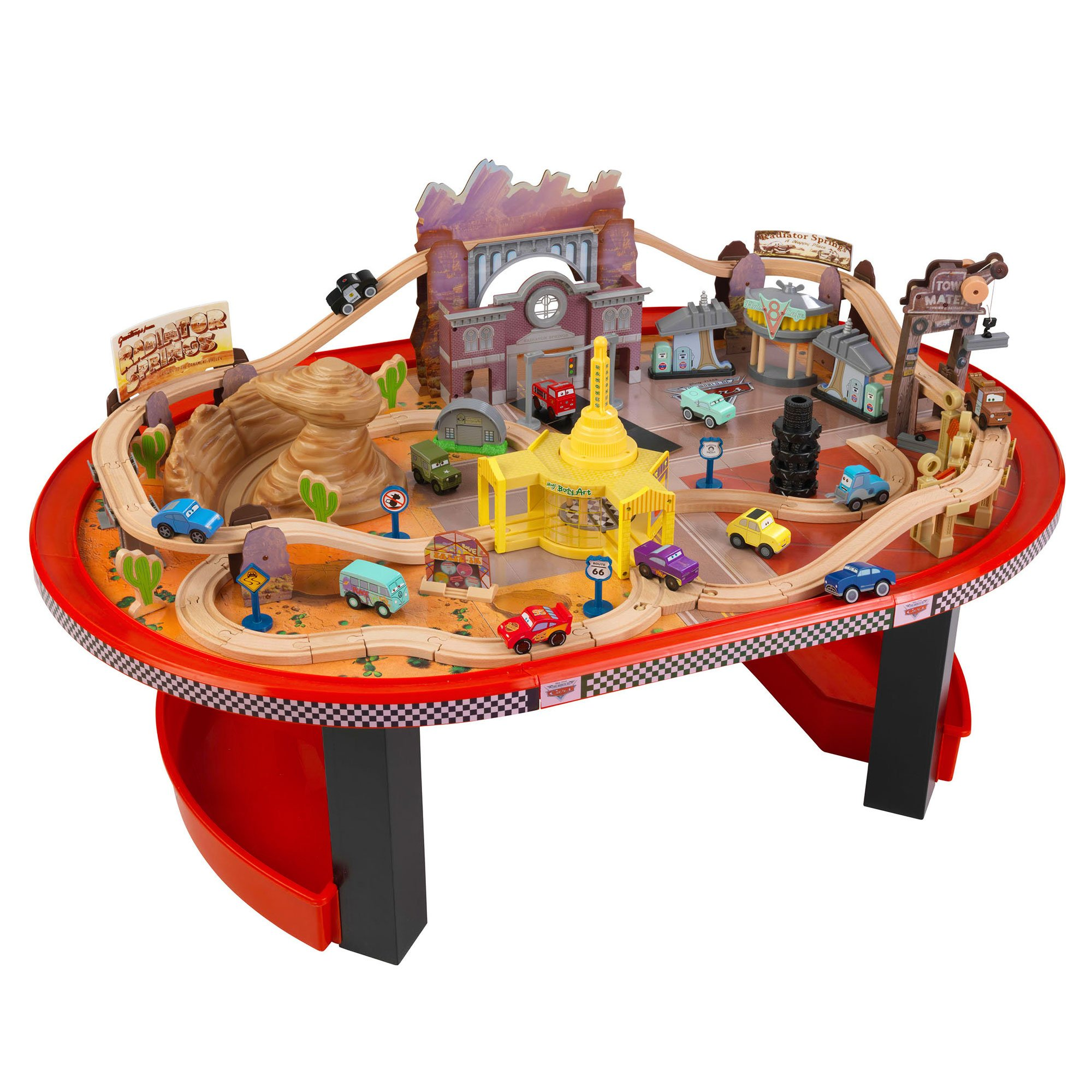 Kidkraft Disney Cars Radiator Springs Race Track Set And Table Ages 3 17979