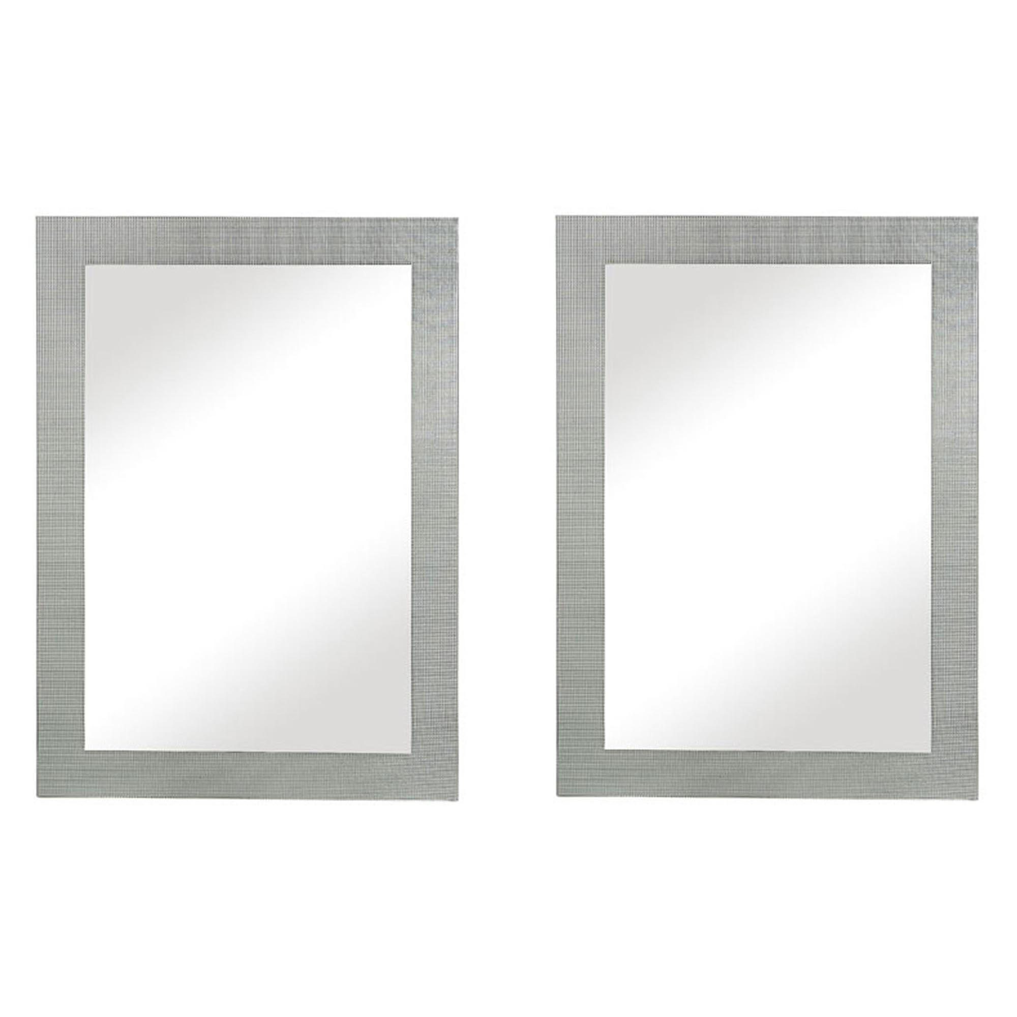 Majestic 26 X36 Contemporary Rectangular Tile Gl Accent Wall Mirror 2 Pack