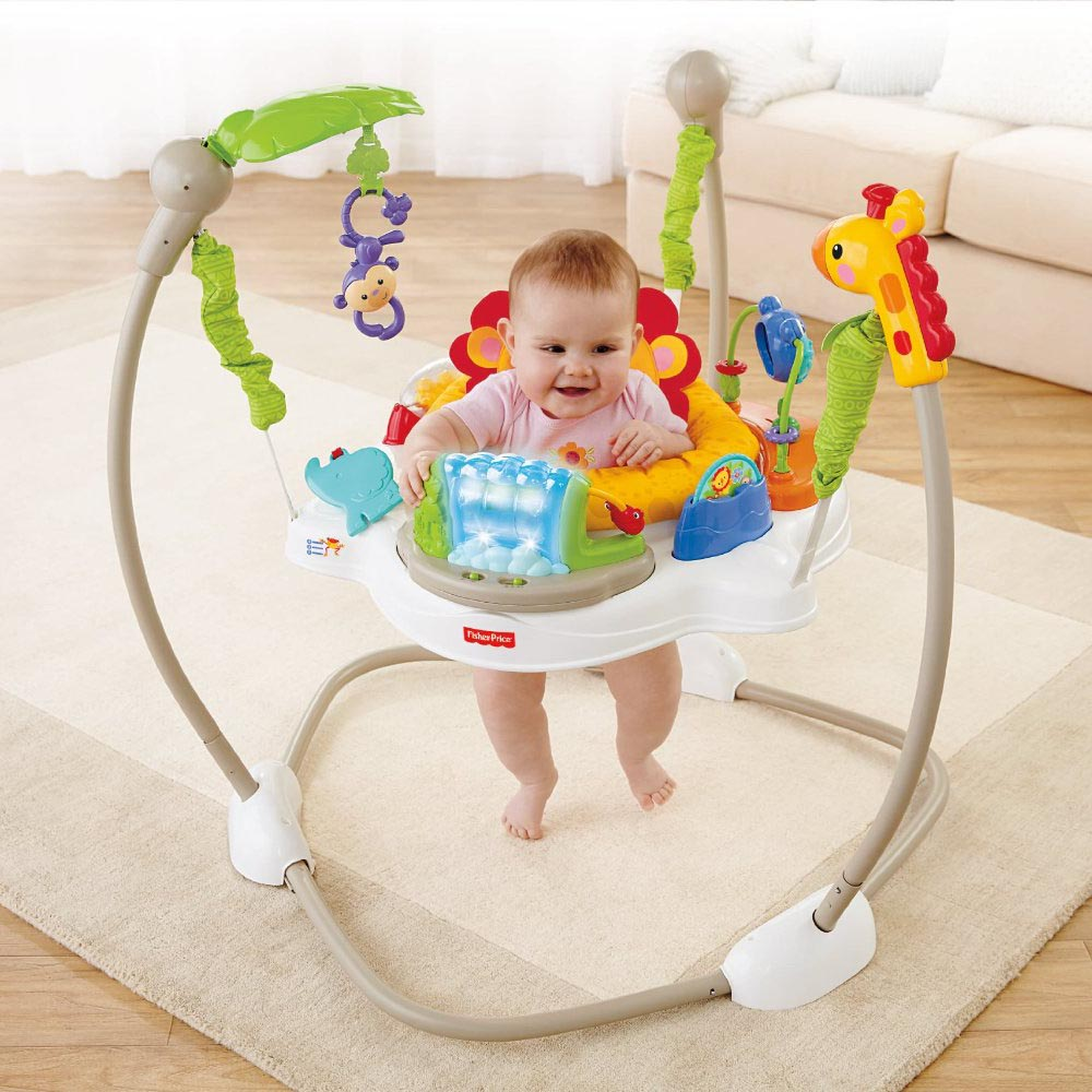 Fisher Price Bouncer >> Fisher Price Rainforest Friends Baby Jumperoo Play Baby Bouncer | X7324