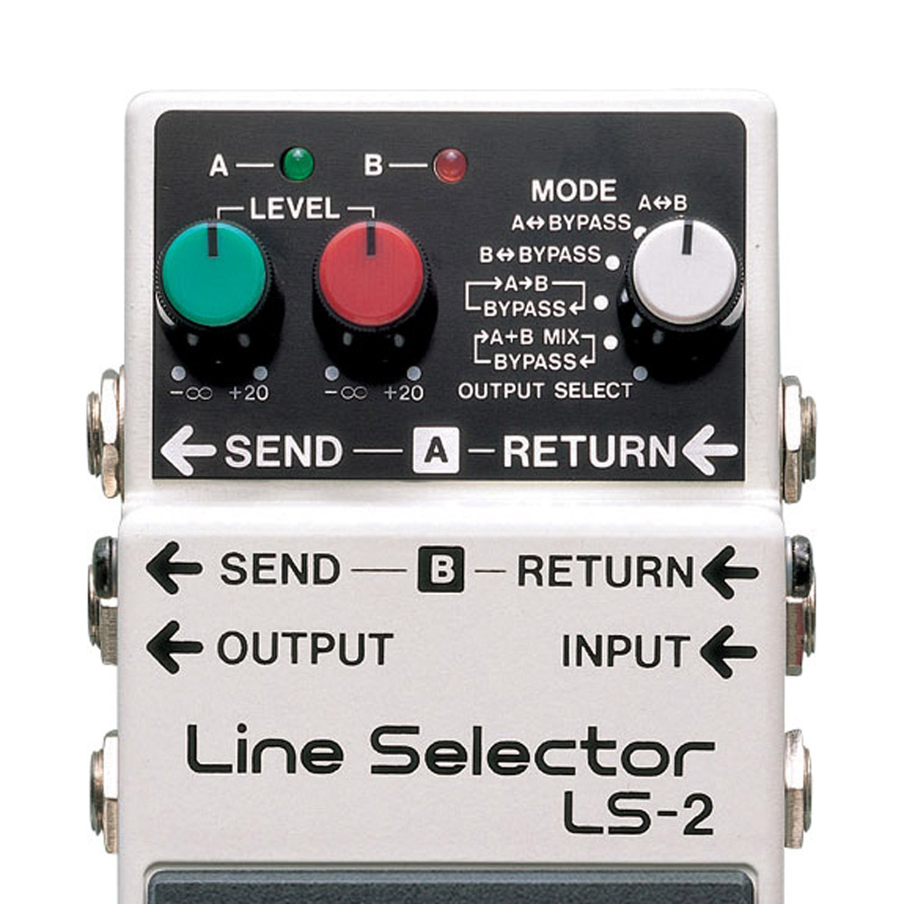 Boss Ls 2 Line Selector Switch Battery Power Multi Effect Electric A B Box Guitar Schematic Pedal