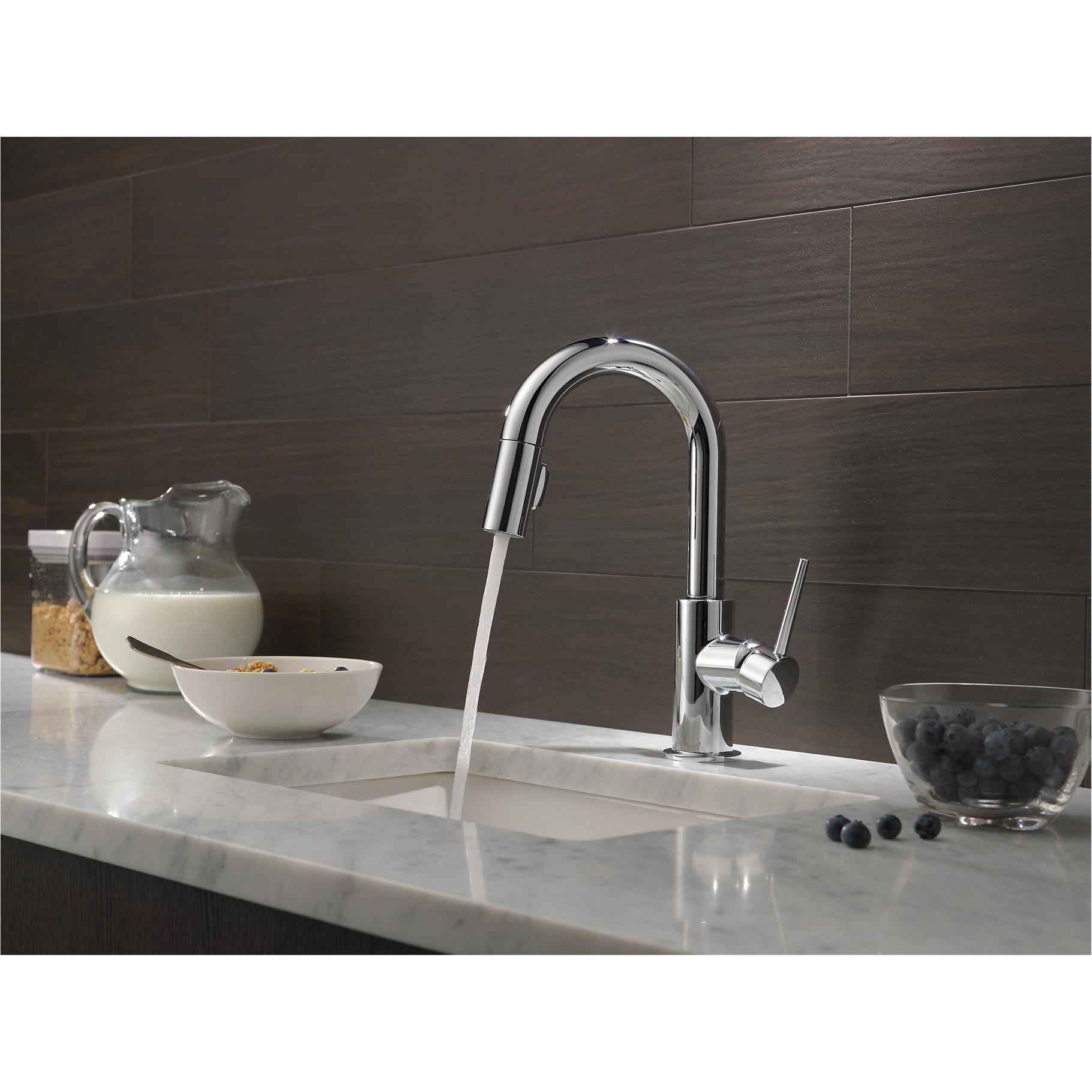 DELTA FAUCETS SINGLE Handle Trinsic Bar/ Prep Sink Faucet, Chrome ...