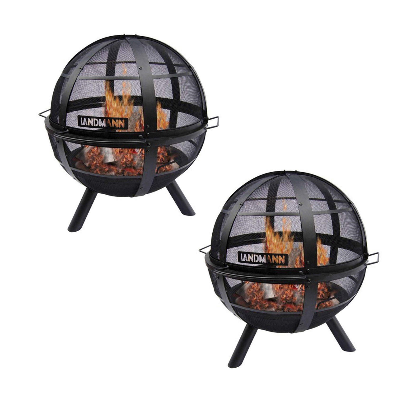 Landmann Usa Ball Of Fire Outdoor Patio Steel Bowl Fire Pit With