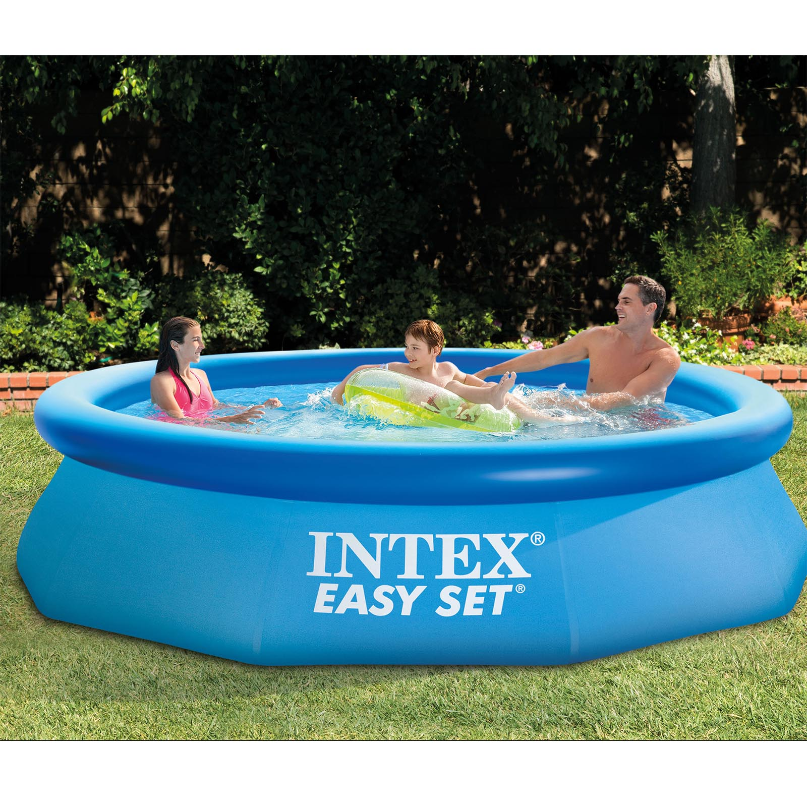 Intex 10 39 x 30 easy set above ground inflatable family for Inflatable above ground pools