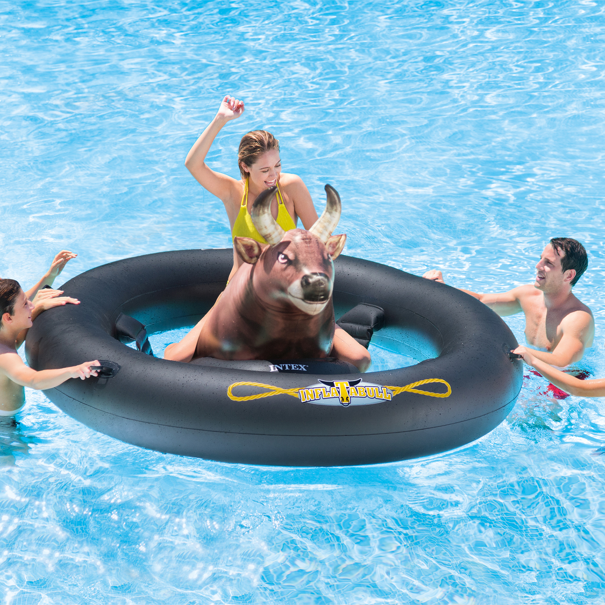 Intex giant inflatabull bull riding inflatable swimming pool float 56285ep Intex inflatable swimming pool