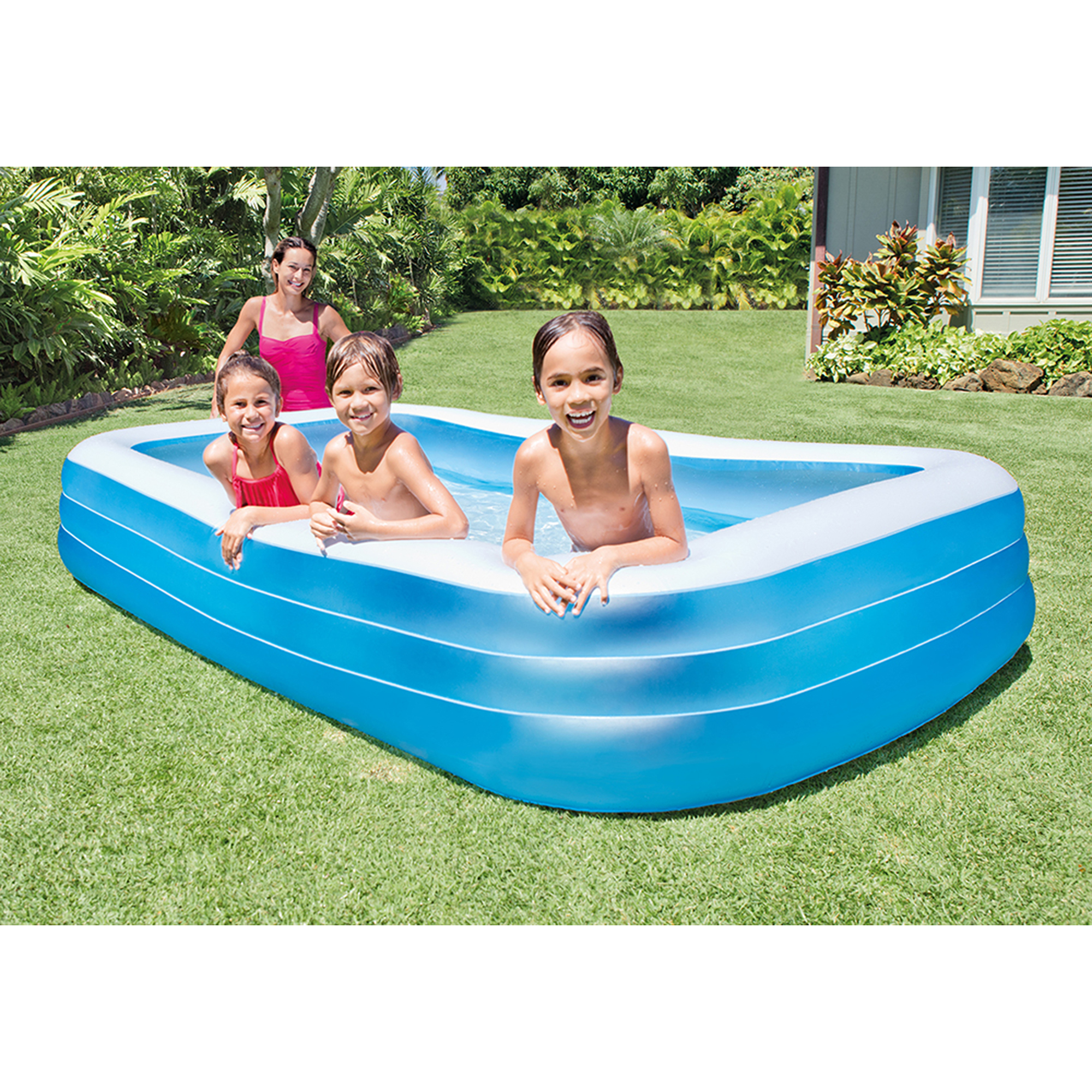 Intex swim center 72 x 120 family backyard inflatable for Intex pool 120 hoch