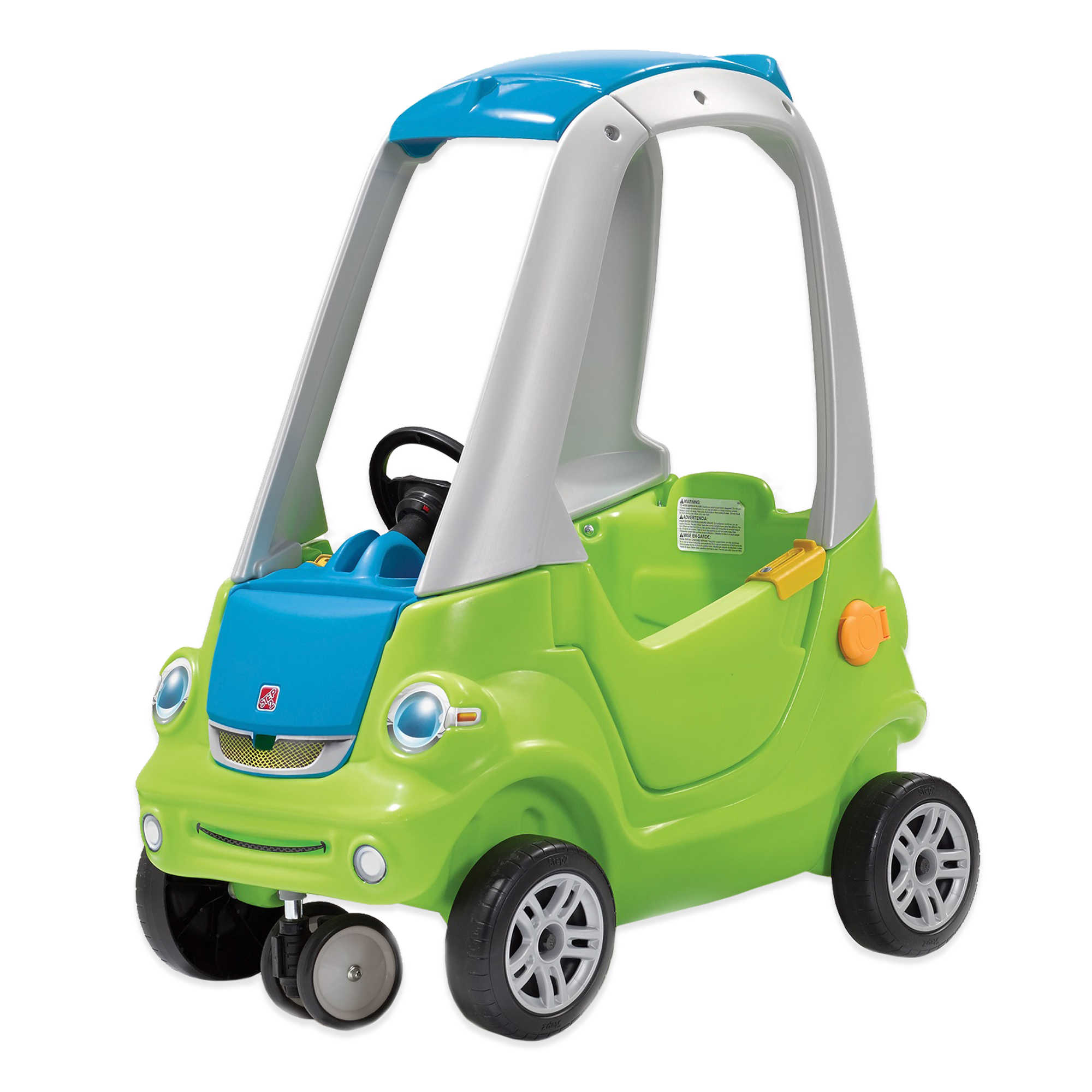 step2 toddler outdoor push ride on toy car for kids easy turn coupe in green 9223402539690 ebay. Black Bedroom Furniture Sets. Home Design Ideas