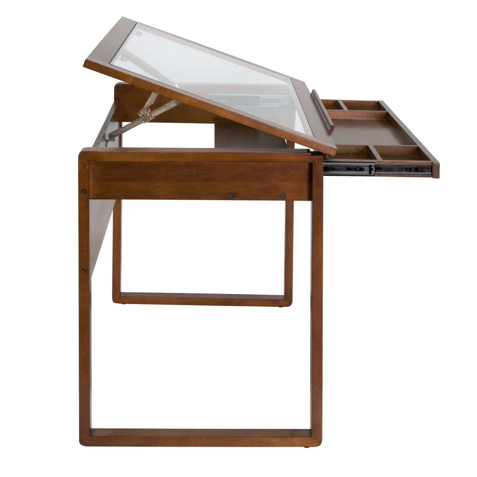 Studio Designs Wooden Glass Top Ponderosa Home Or Office Drafting  # Muebles Ponderosa