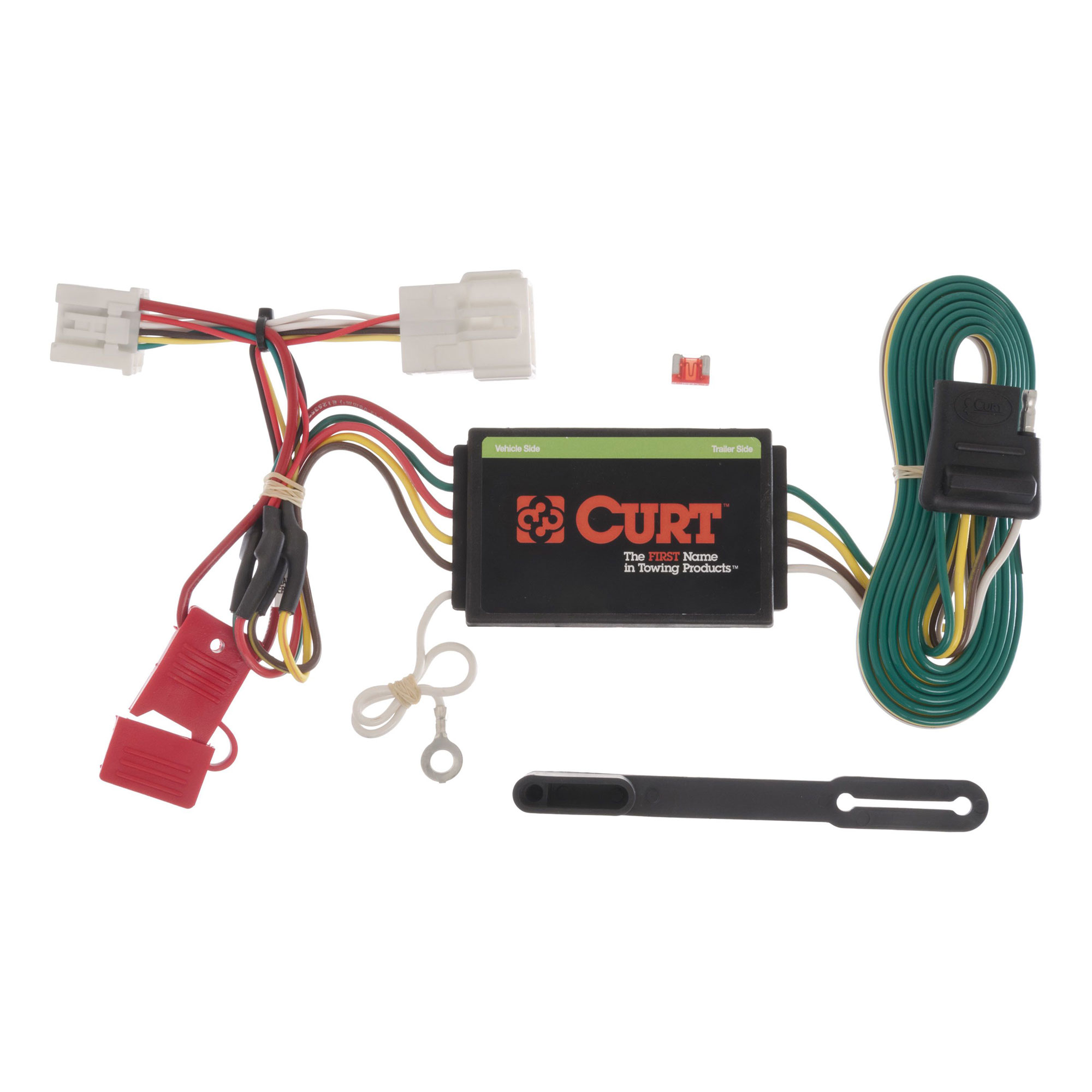 curt 4 way t connector vehicle to trailer custom wiring harness for
