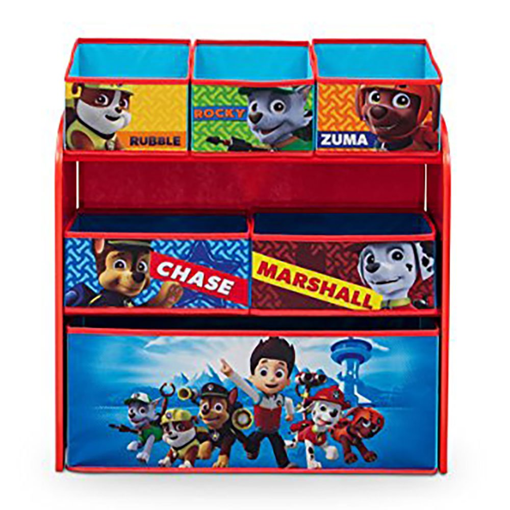 Paw Patrol Toy Organizer Bin Cubby Kids Child Storage Box: Delta Children Nick Jr. Paw Patrol Multi Toy Box Bin Wood