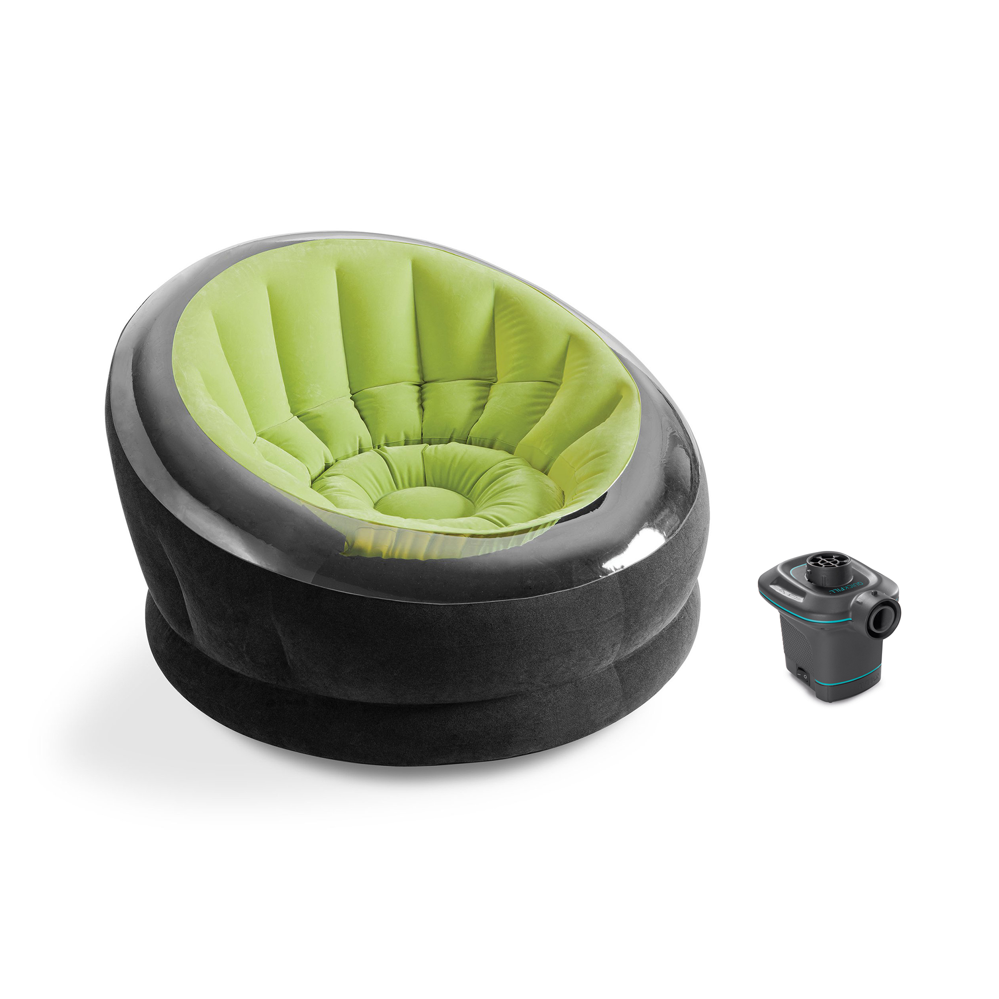 Brilliant Details About Intex Empire Lime Green Inflatable Blow Up Lounge Dorm Camping Chair Air Pump Onthecornerstone Fun Painted Chair Ideas Images Onthecornerstoneorg