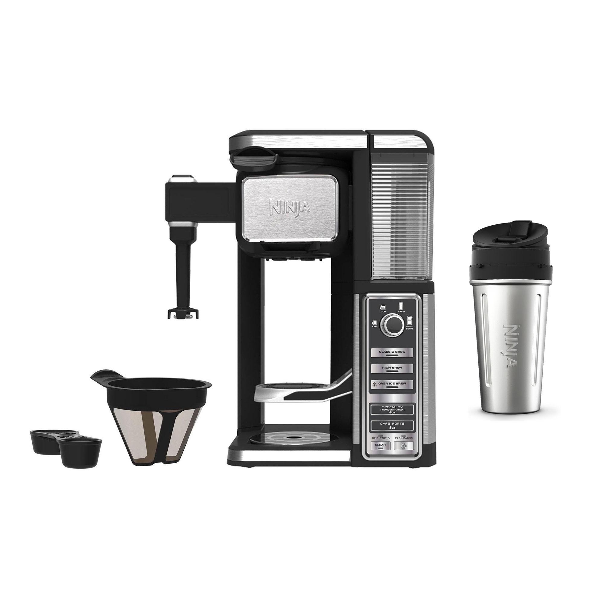 Ninja Auto Iq Single Serve Pod Free Coffee Machine Maker W Frother