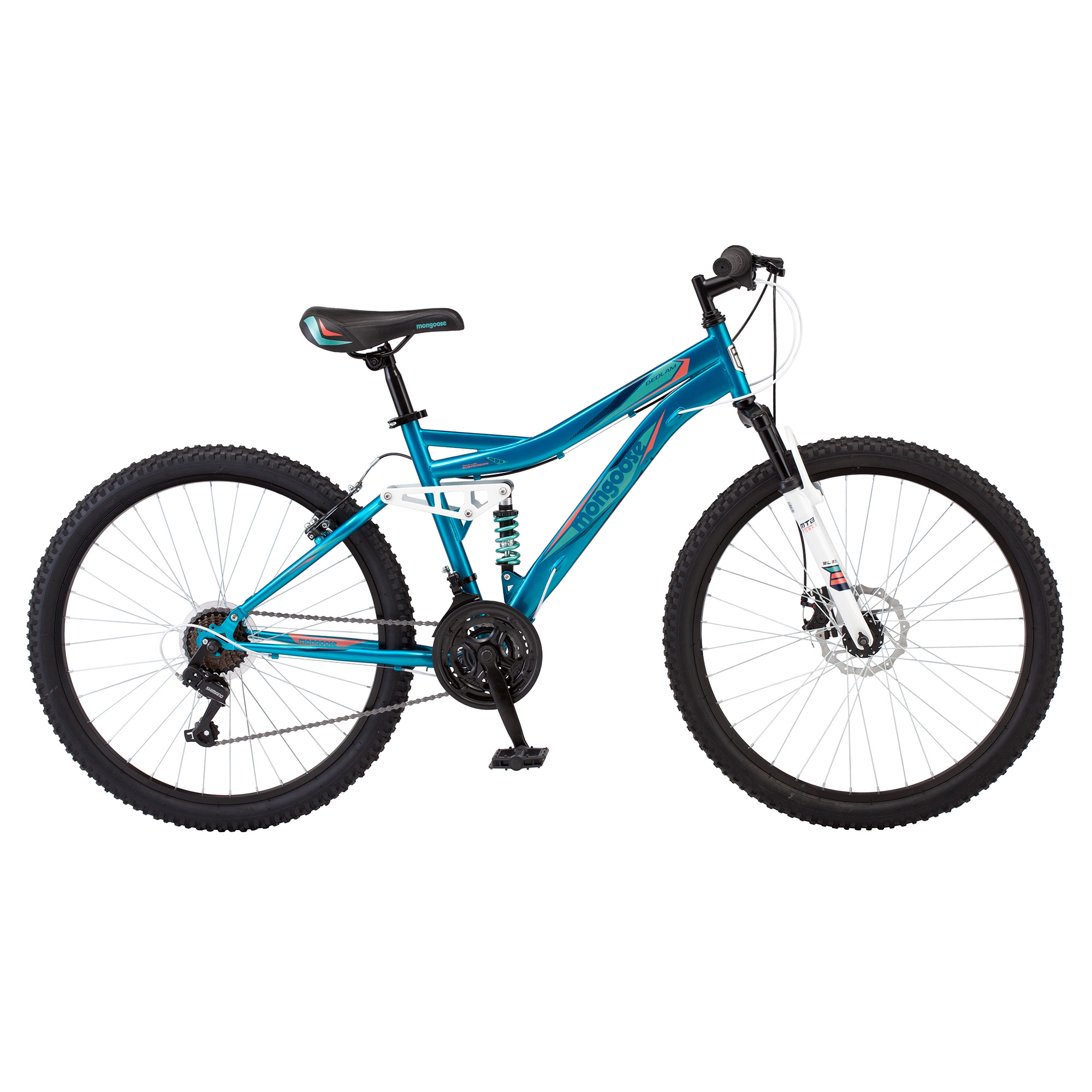 Amazoncom Sleek 24 Mongoose Excursion Boys Steel Framed AllTerrain 21Speed Mountain Bike R1924WM Sports amp Outdoors