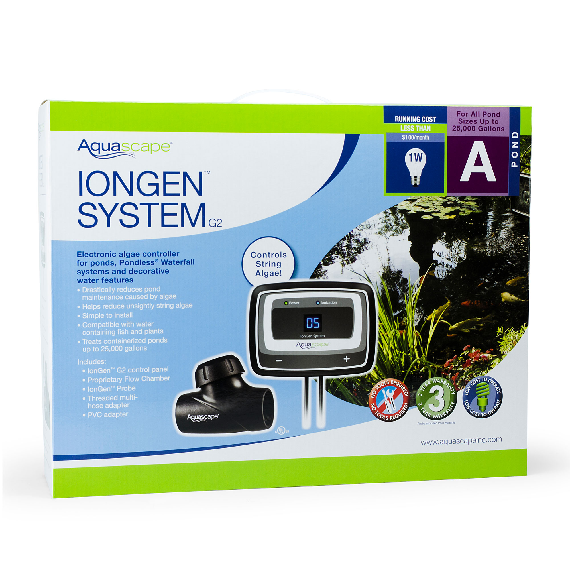 Aquascape 95027 IonGen G2 Natural Chemical Free Auto Pond ...